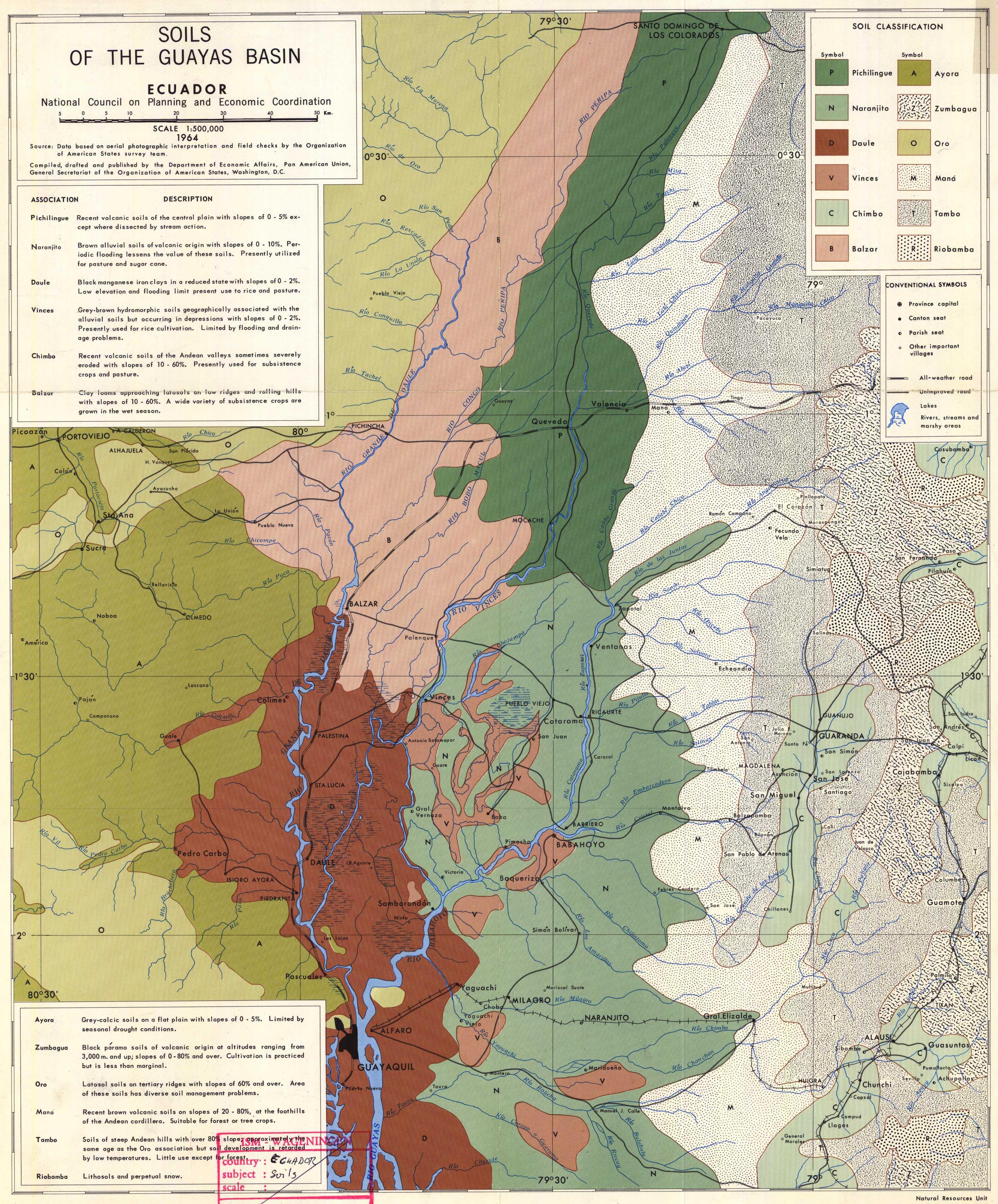 Los suelos de la cuenca del Guayas 1964