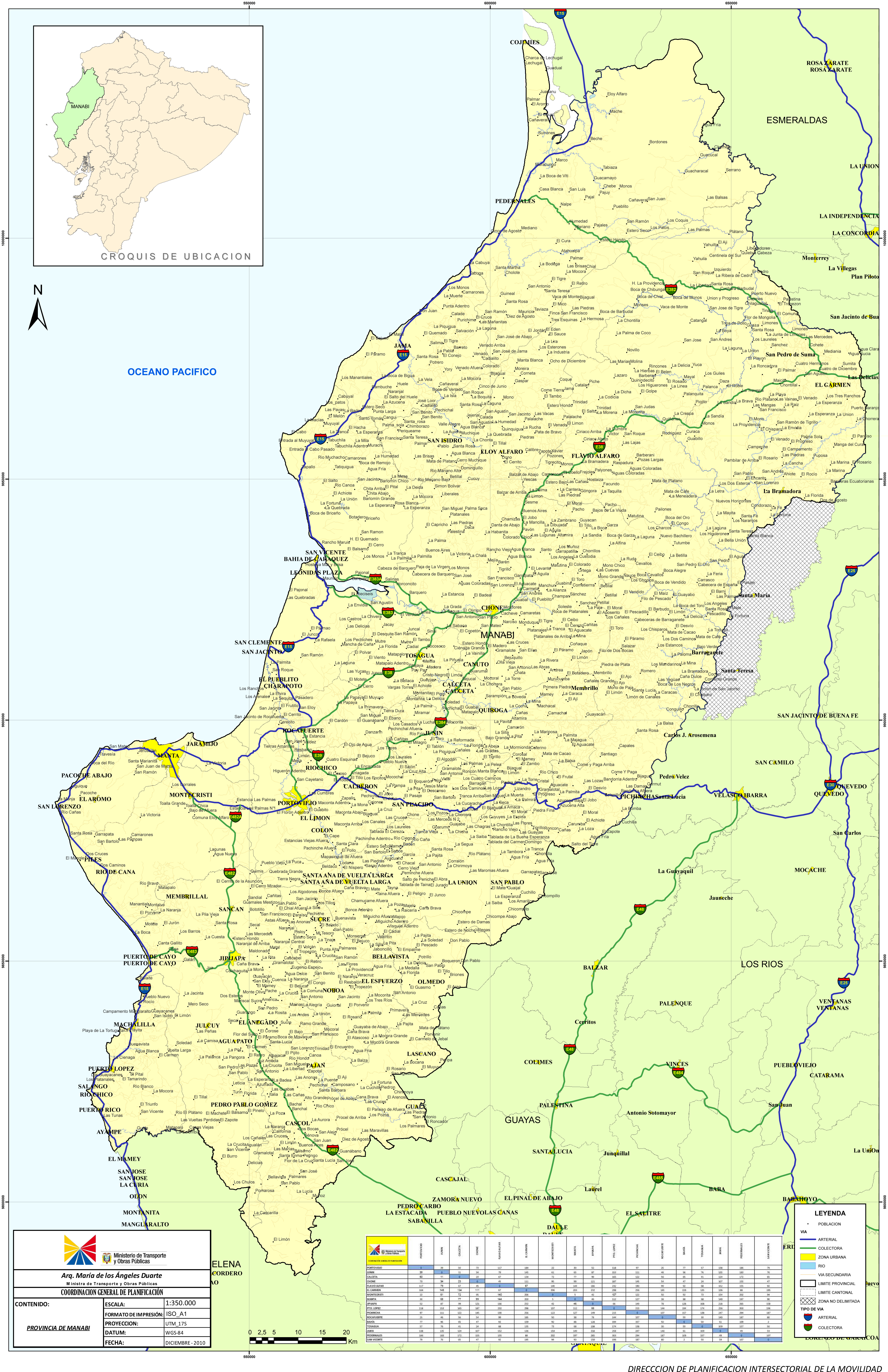 Map of Manabí 2010