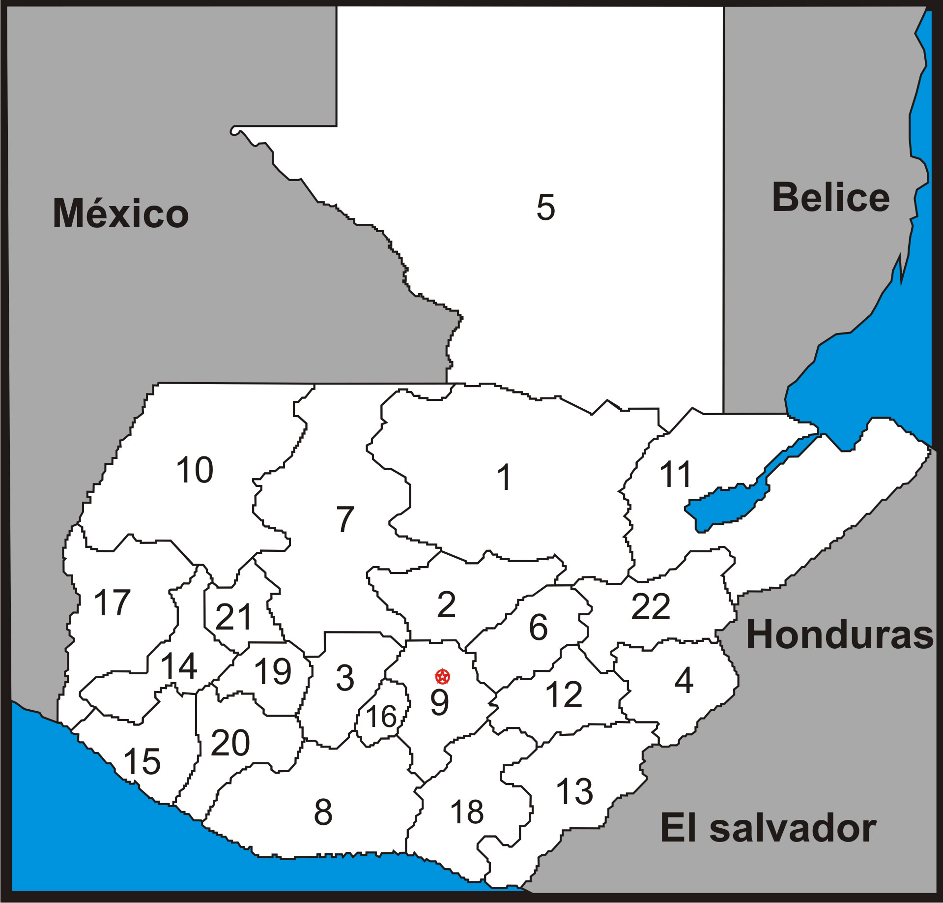 Departments of Guatemala 2010