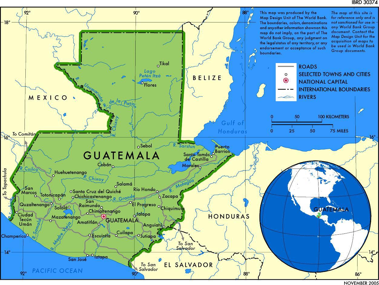 Map of Guatemala 2005