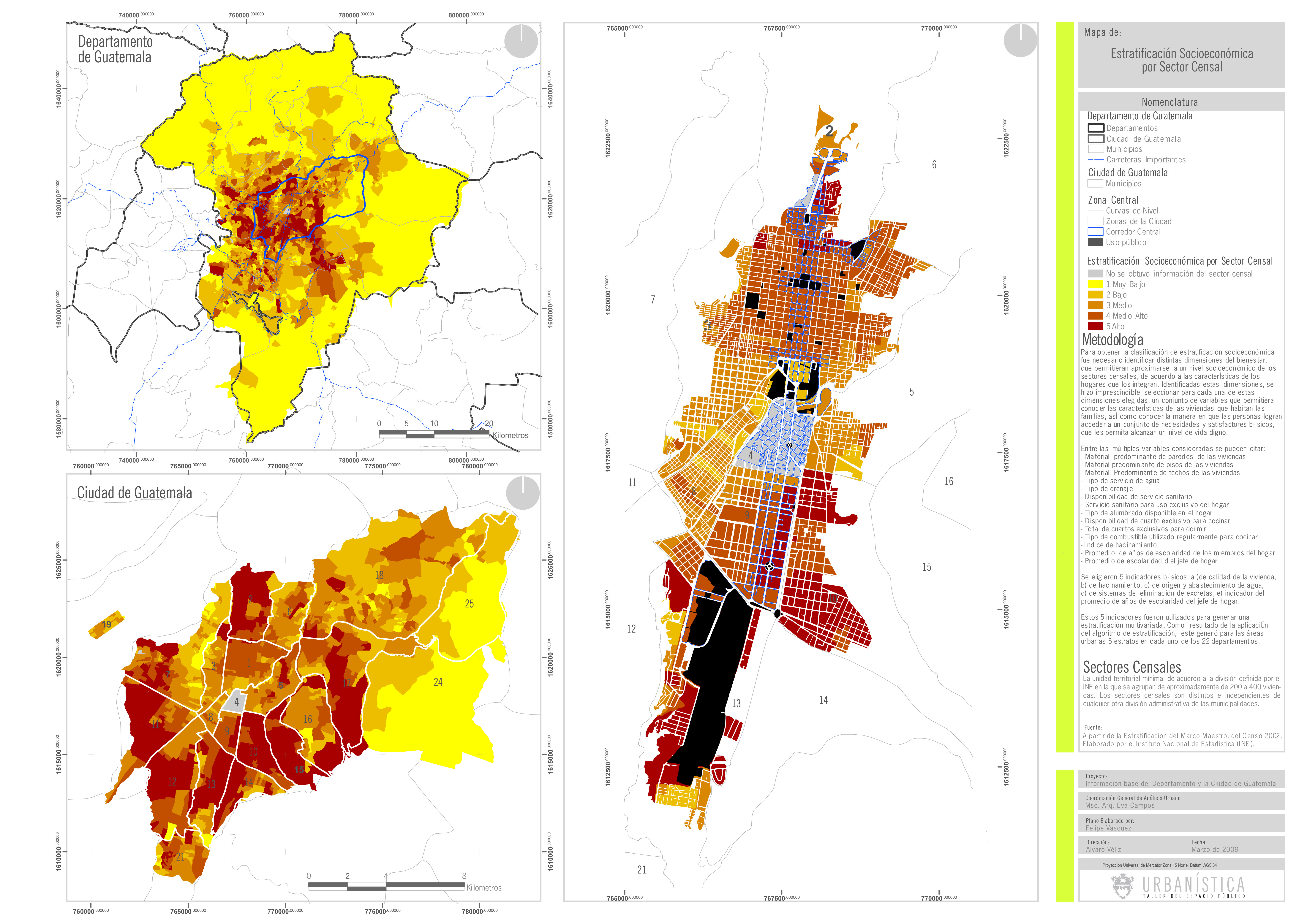Estratos sociales en la Ciudad de Guatemala 2009