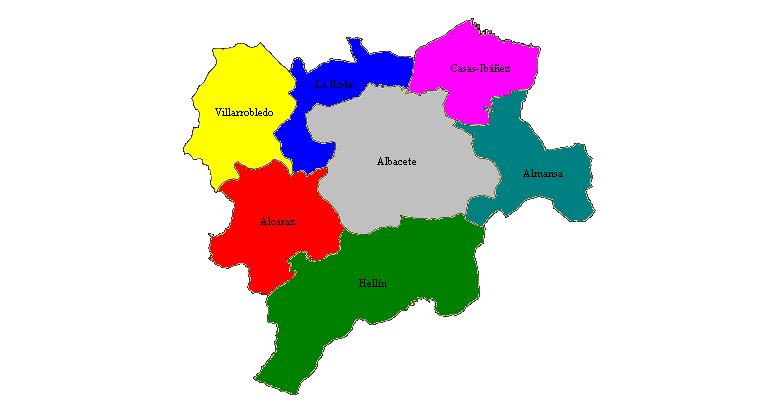 Partidos judiciales de la Provincia de Albacete 1989