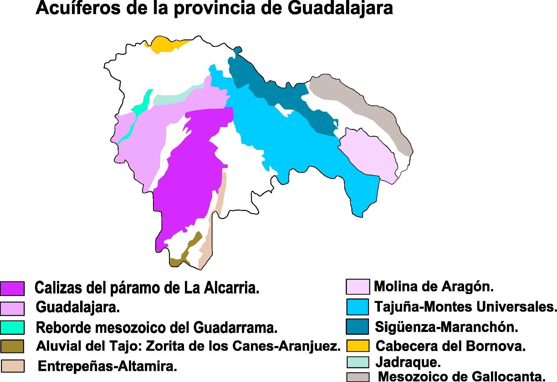 Aquifers in the Province of Guadalajara 2008