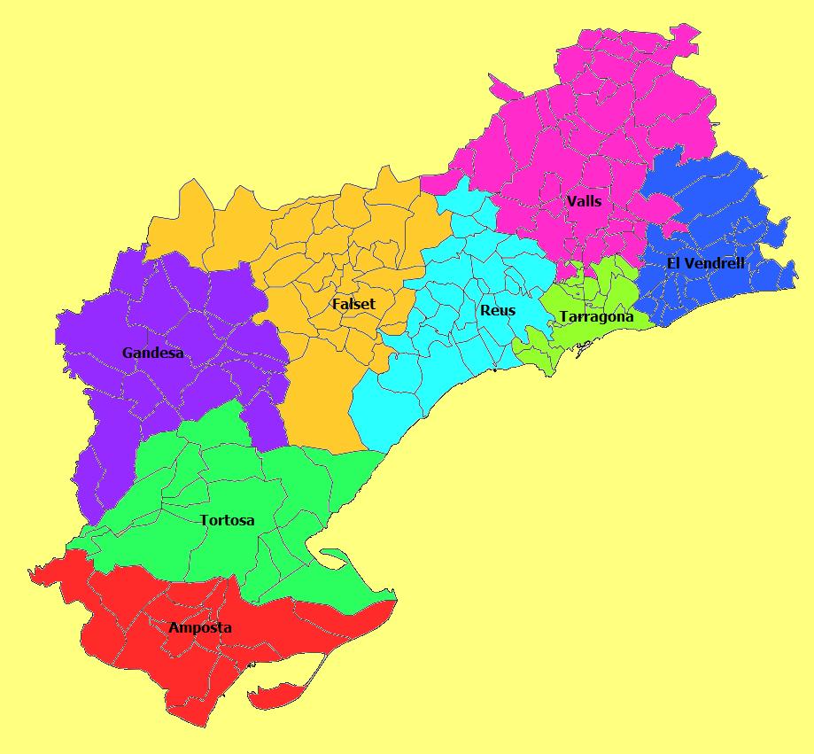 Partidos judiciales de la Provincia de Tarragona 2010