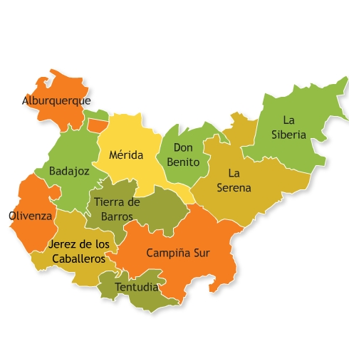 Comarcas of the Province of Badajoz