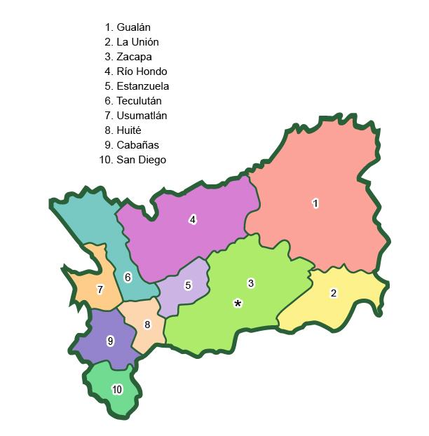 Municipalities of Zacapa