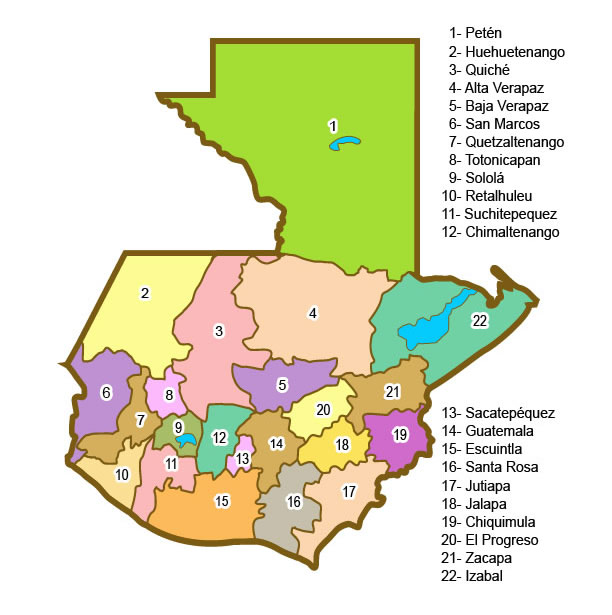 Los Departamentos de Guatemala