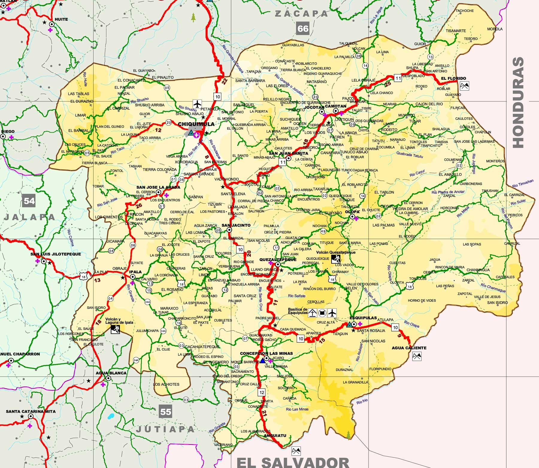 Map of Chiquimula