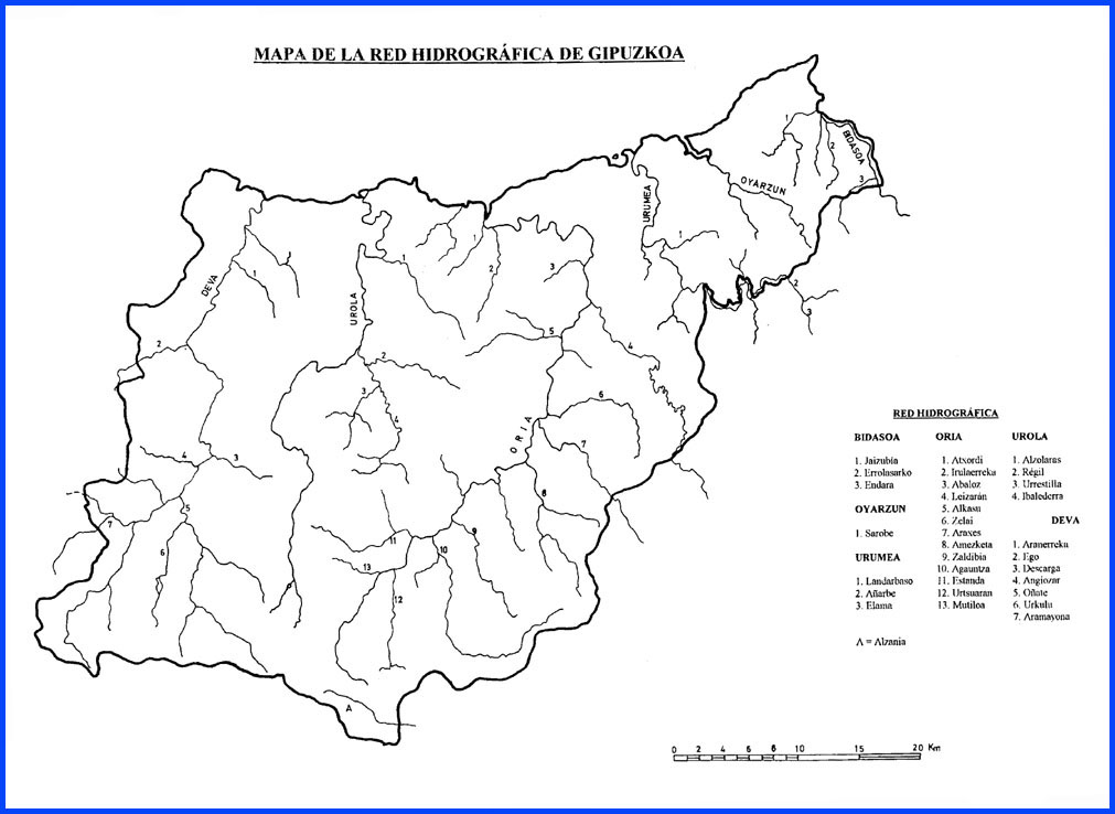 Red hidrográfica de Guipúzcoa