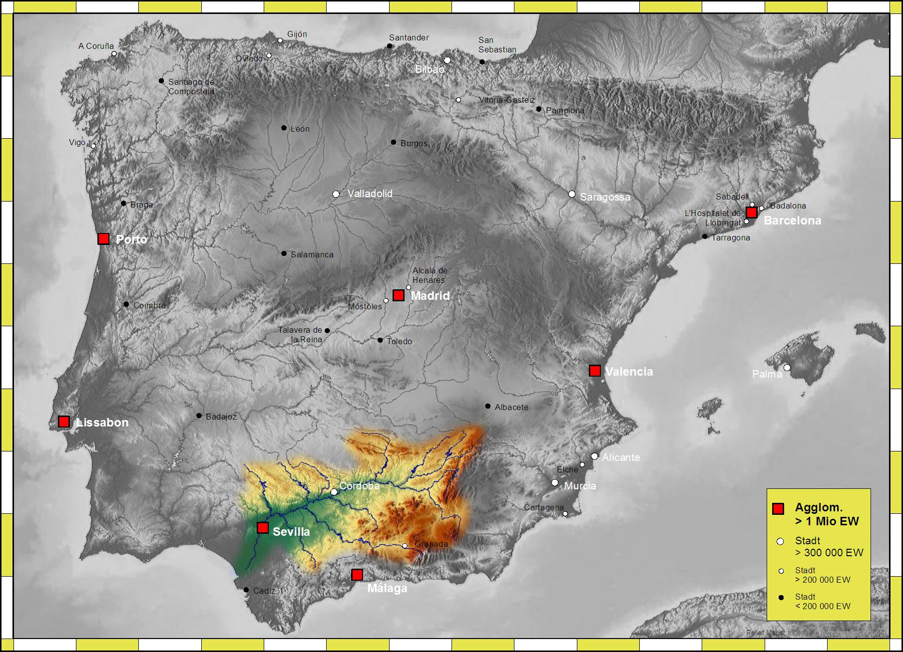 Guadalquivir river basin 2007