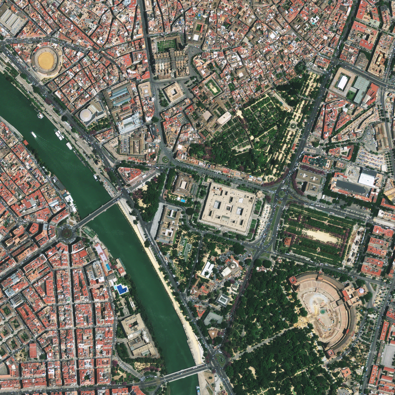 Imagen satélite del centro de Sevilla 2010