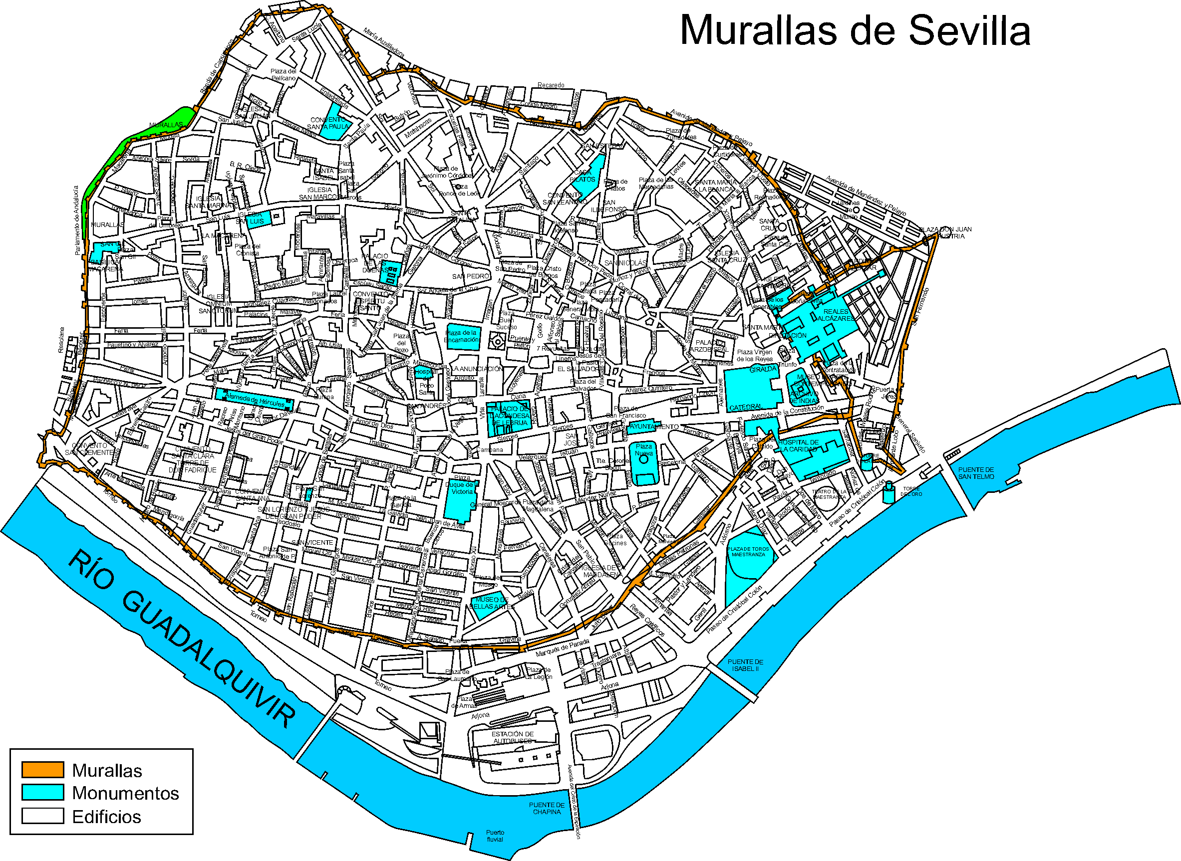Walls of Sevilla XVII century
