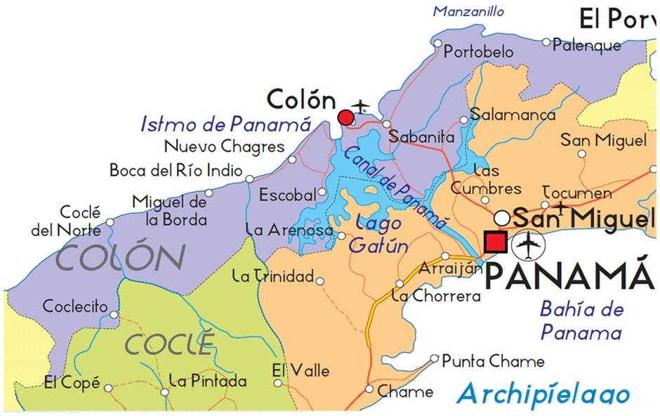 Mapa de Colón