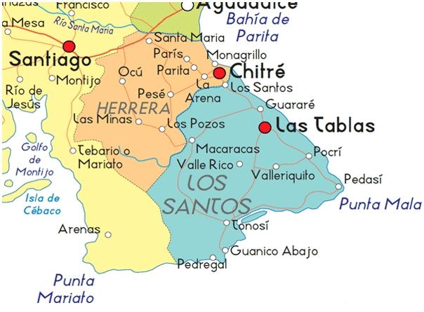 Mapa de Los Santos