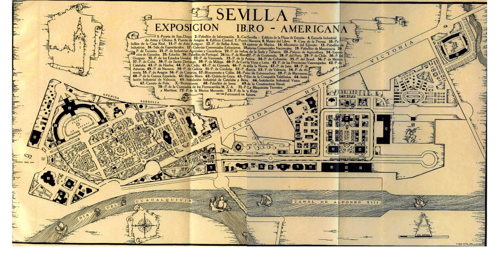 The Ibero-American Exposition of 1929 in Seville