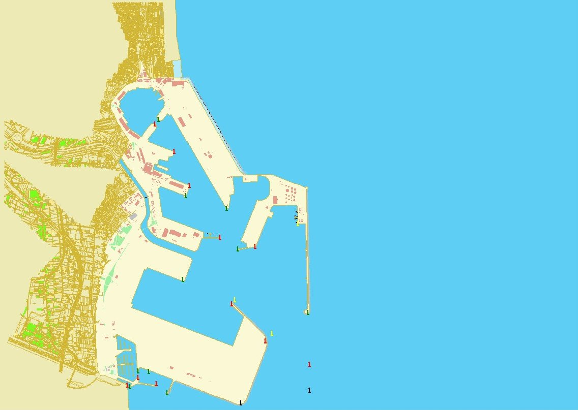 Mapa del puerto de Valencia
