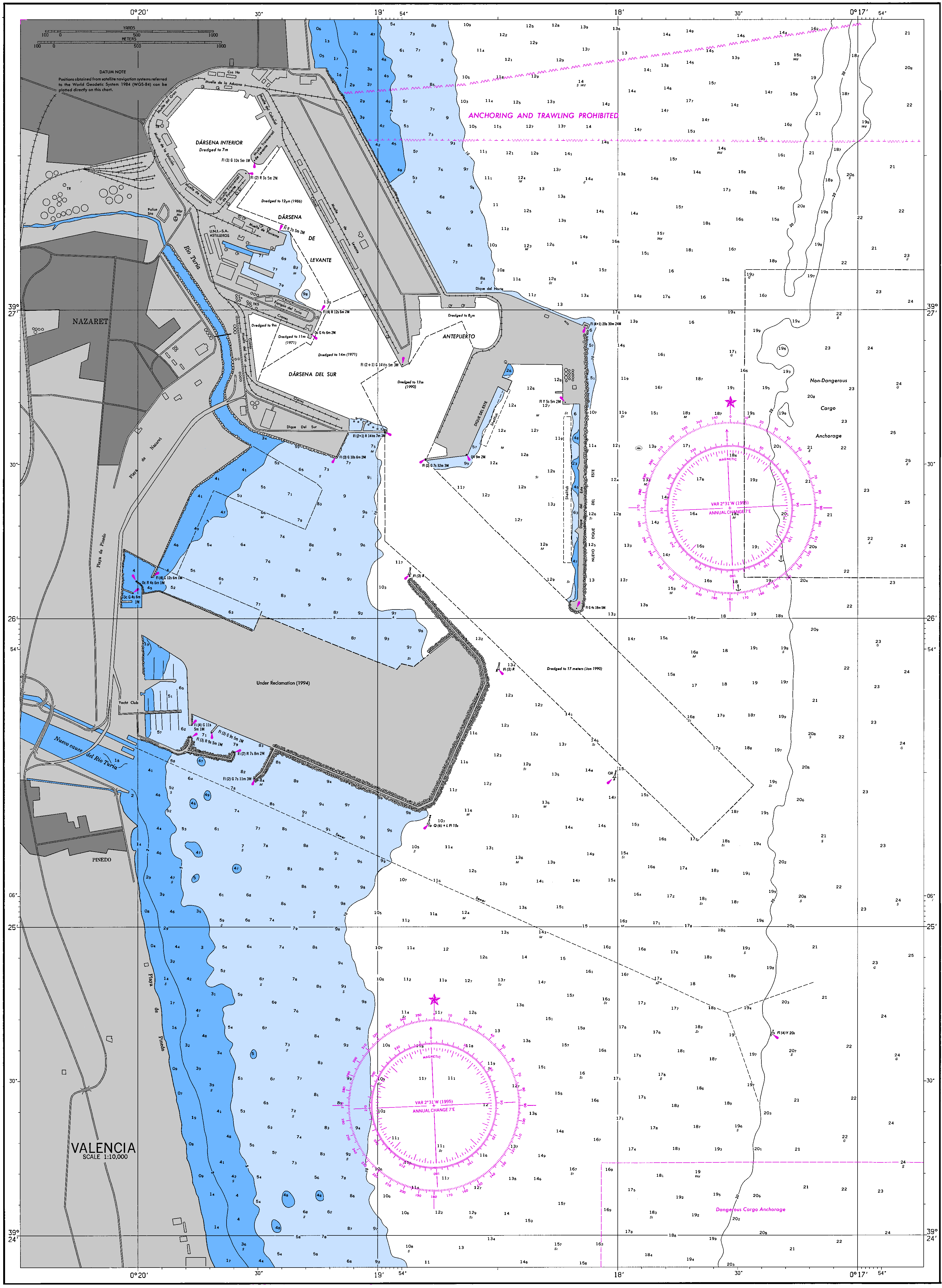 Port of Valencia nautical chart