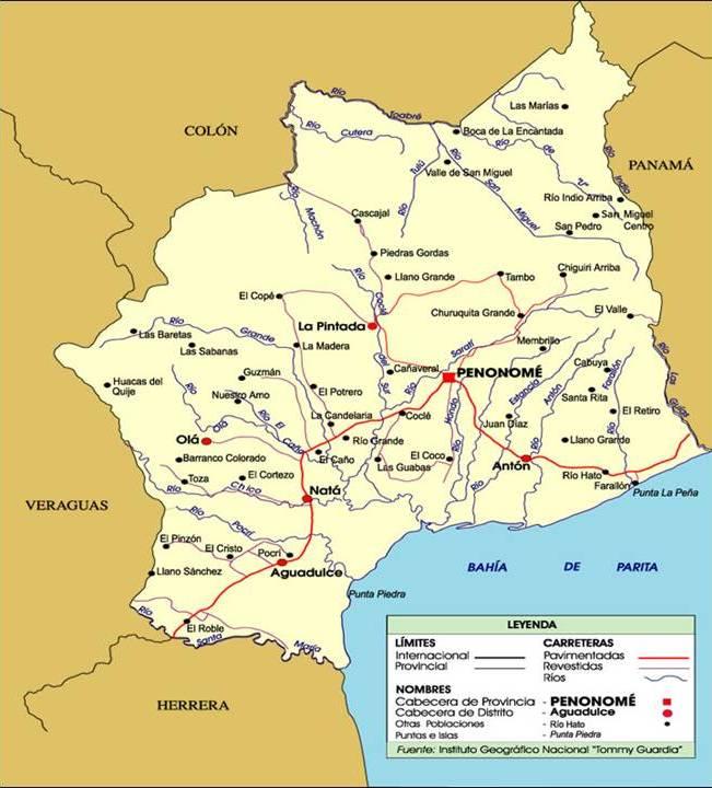 Coclé road map