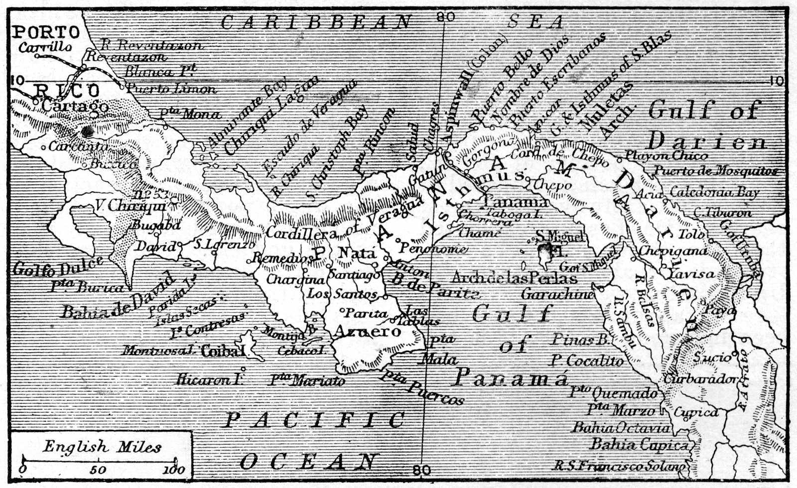 Map of Panama 1906