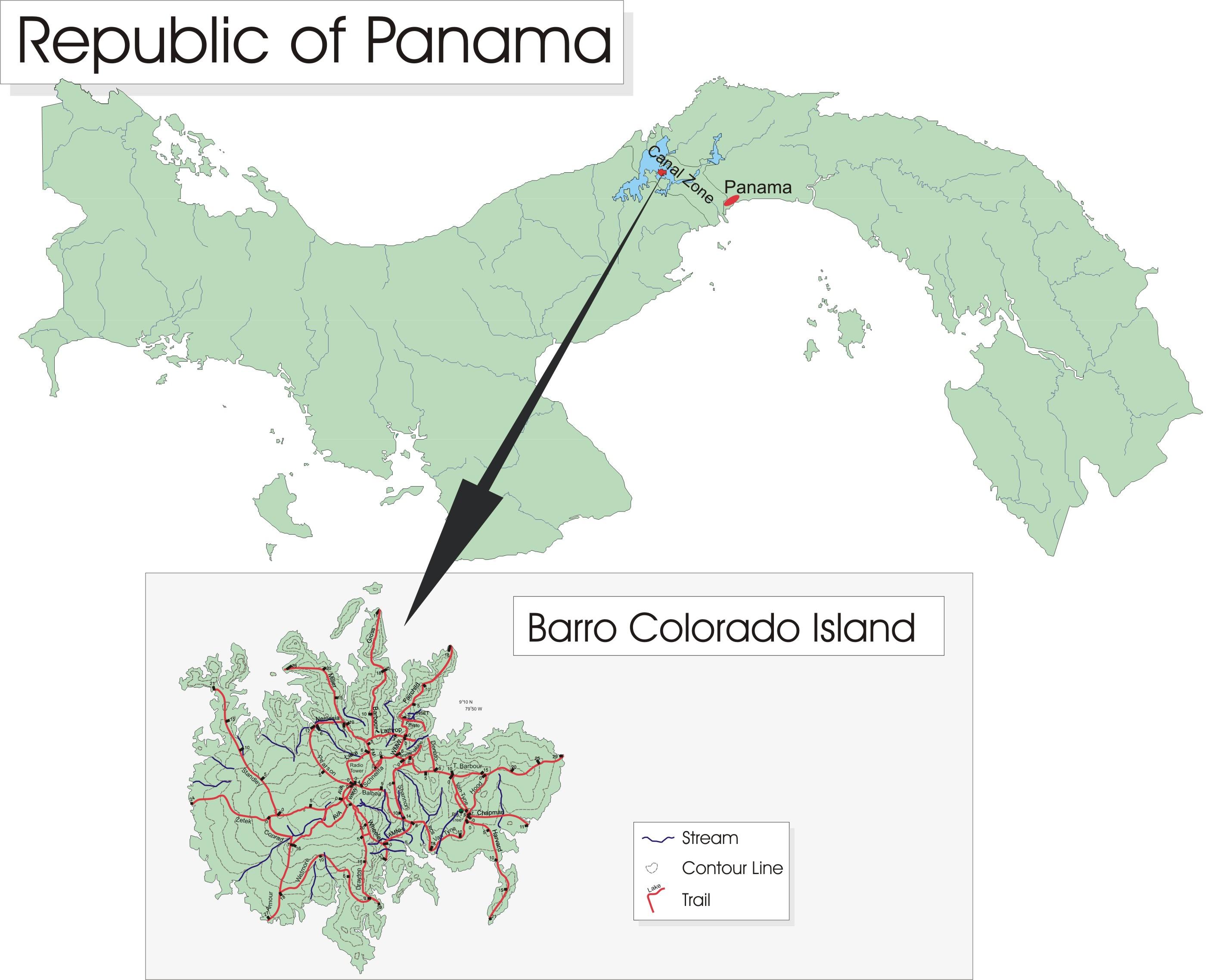 Isla Barro Colorado en Panamá