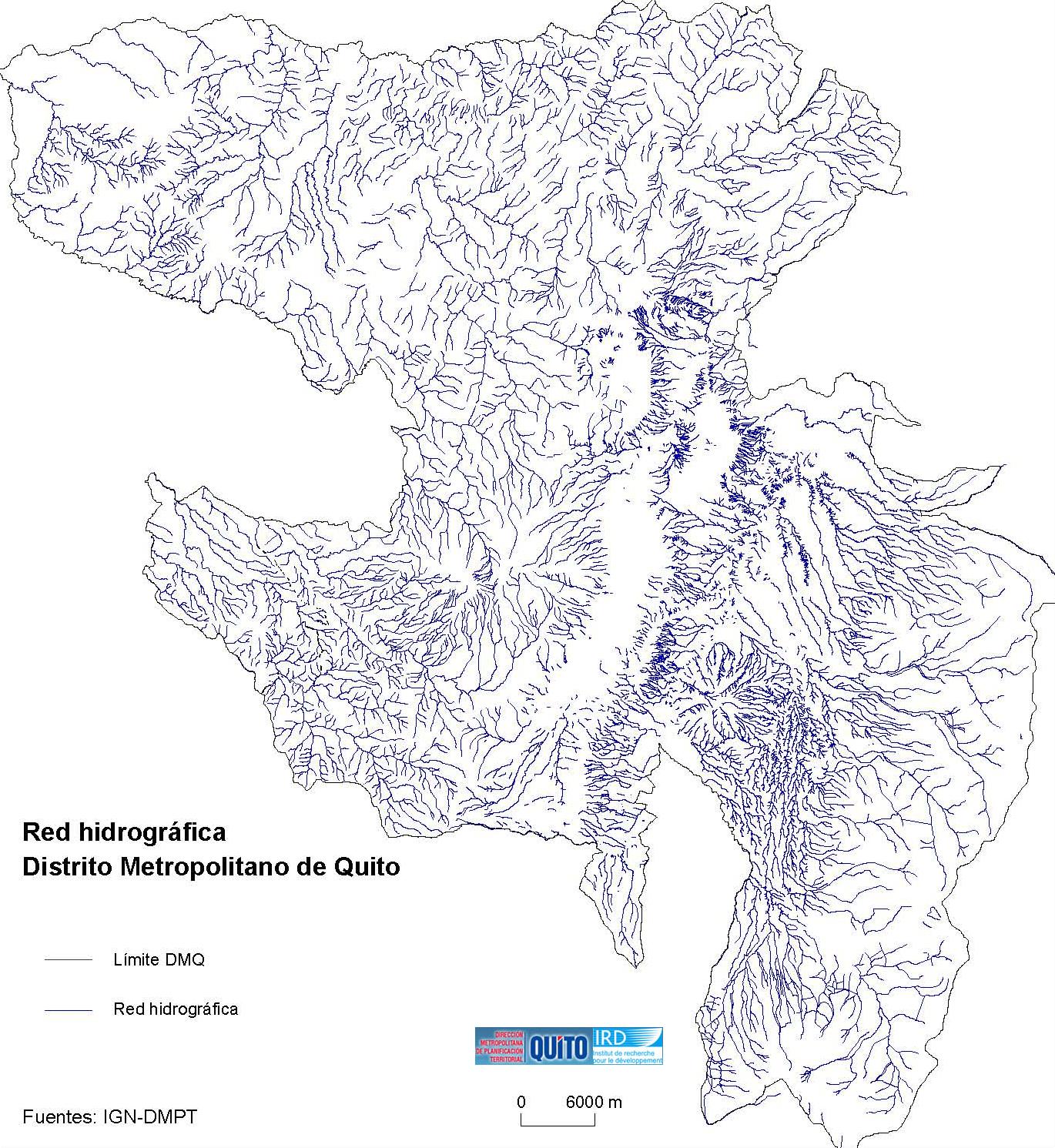 Red hidrográfica del Distrito Metropolitano de Quito