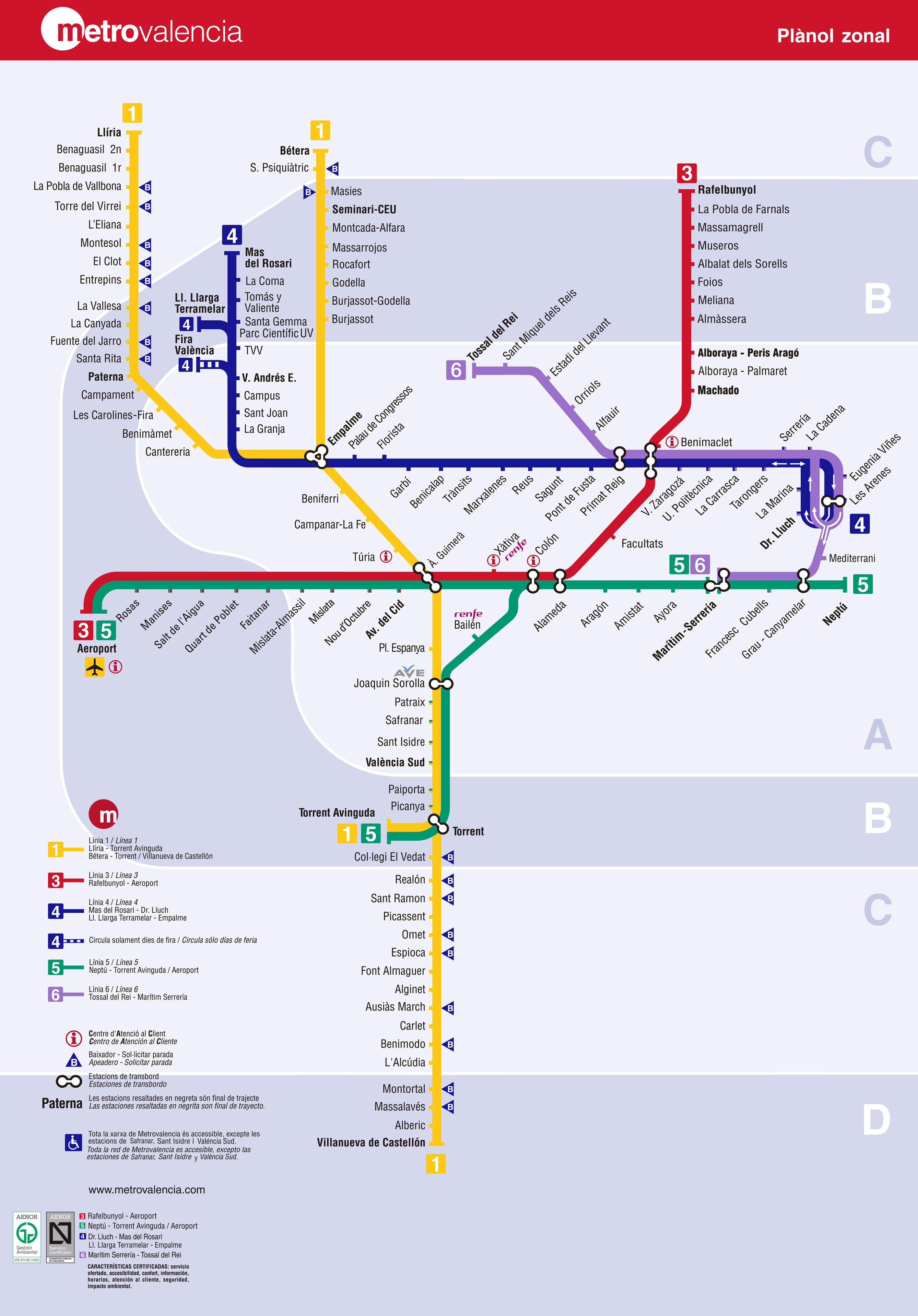 El Metro de Valencia 2010