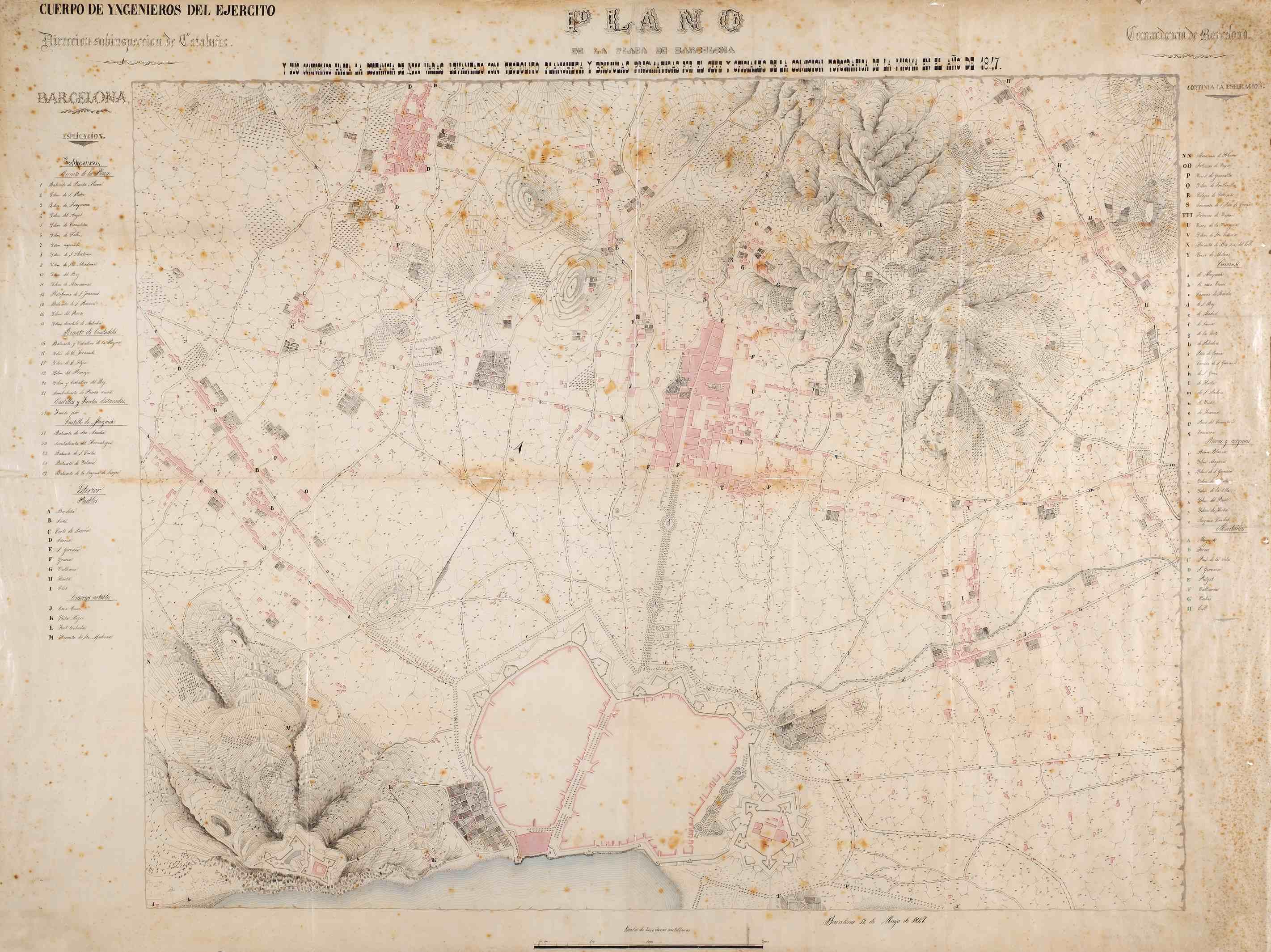 Los Caminos principales del Llano de Barcelona 1847