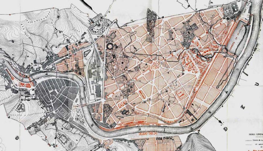 The enlargement project of Bilbao 1876