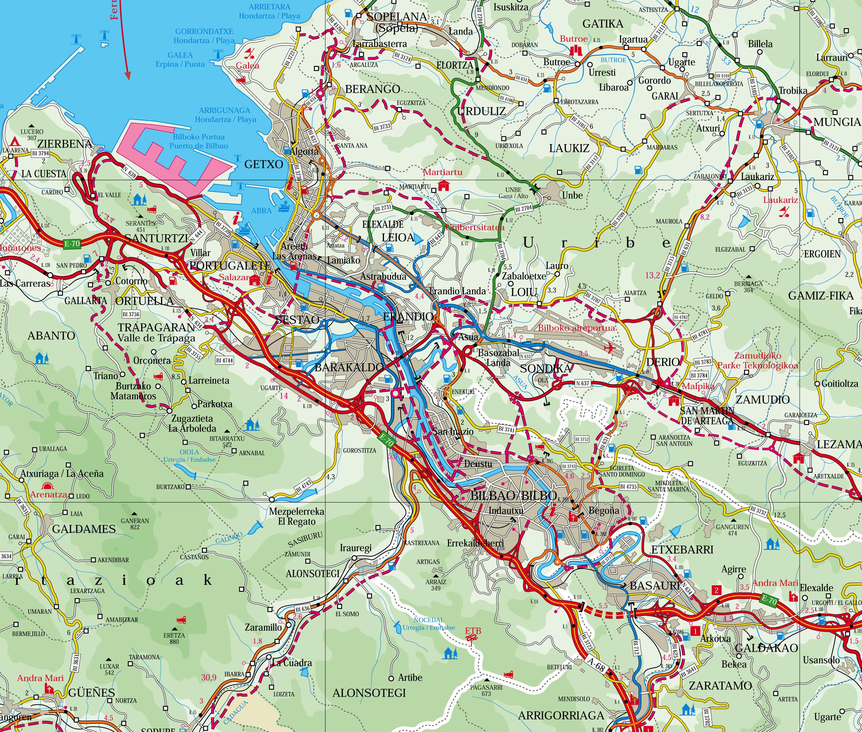 Map of the Bilbao Metropolitan Area
