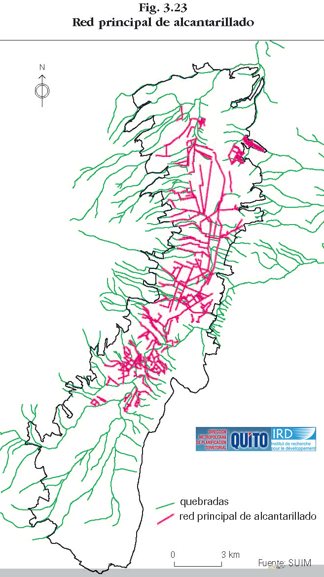 Major sewerage network in Quito 1992