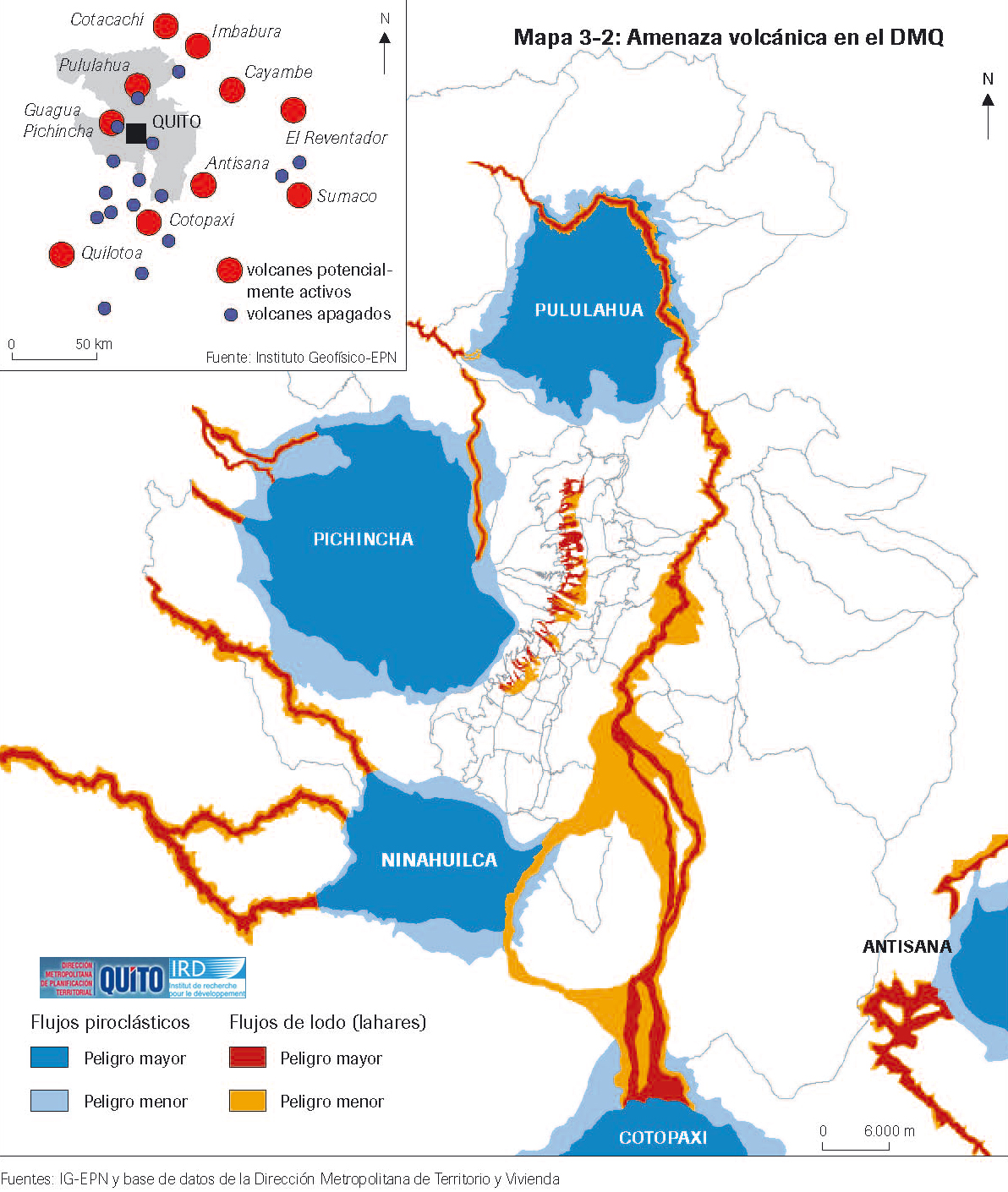 Amenaza volcánica en el Distrito Metropolitano de Quito 1988
