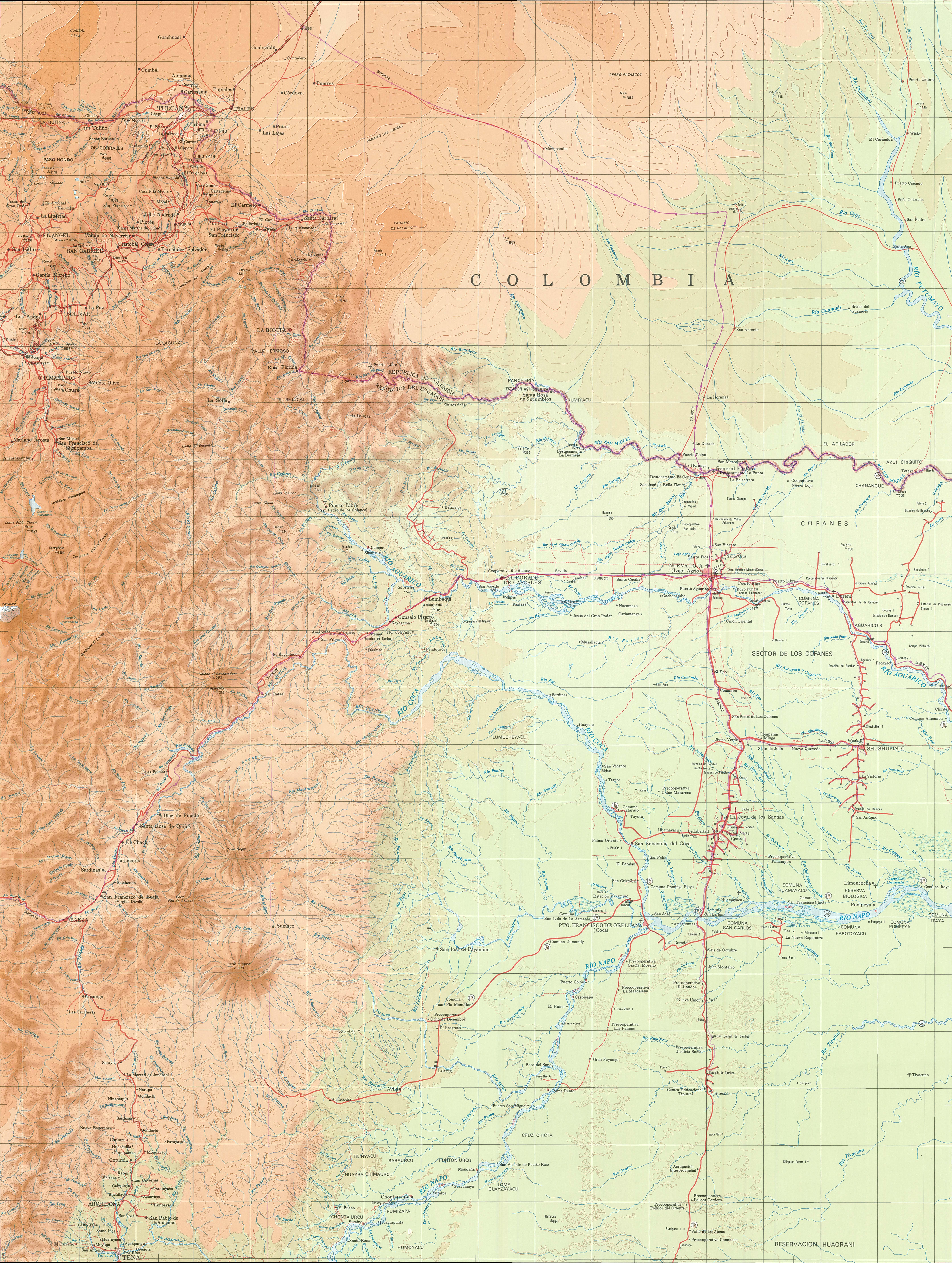 Topographic map of the Amazon Region 1