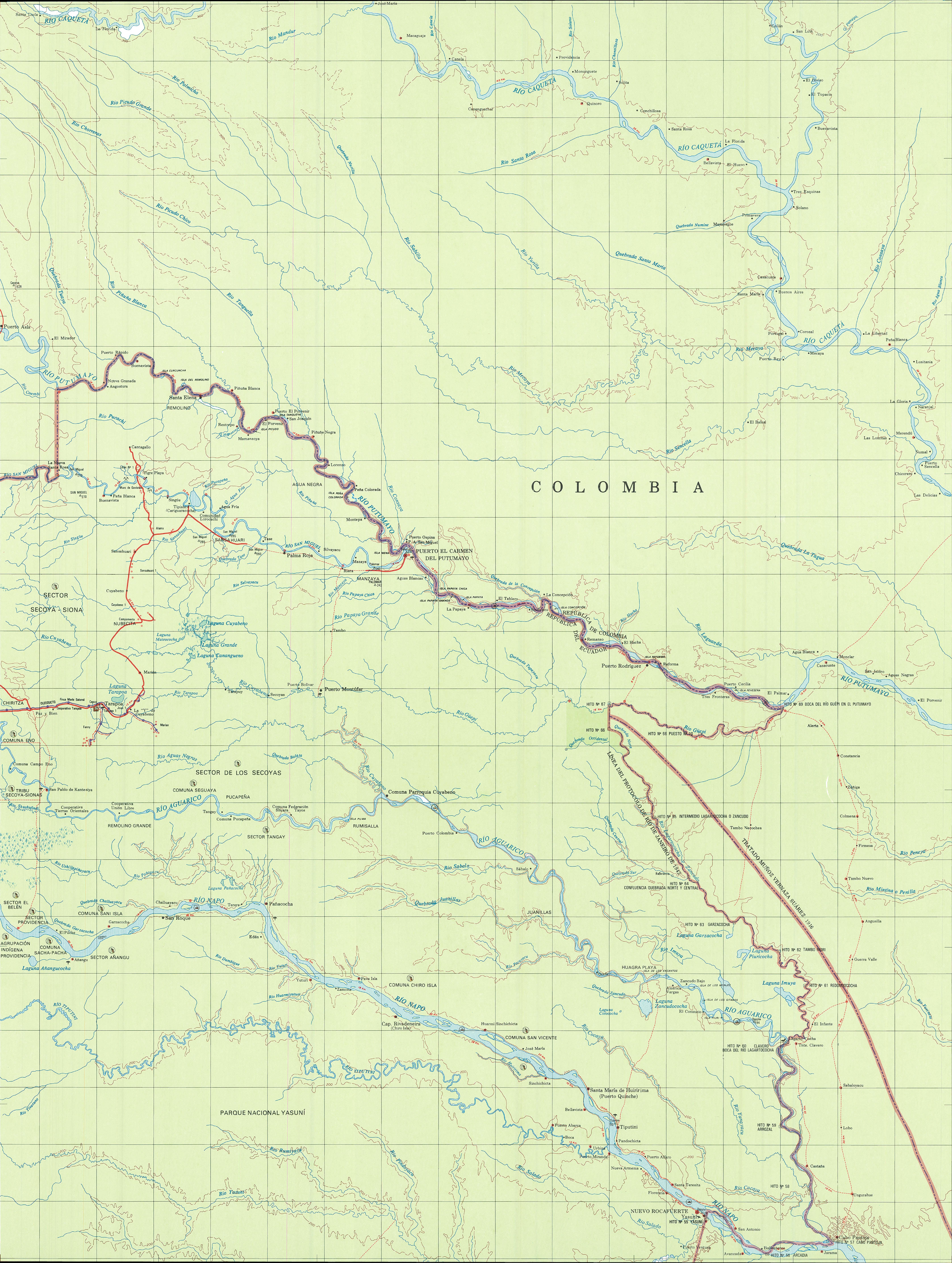 Mapa topográfico de la Región Amazónica 2