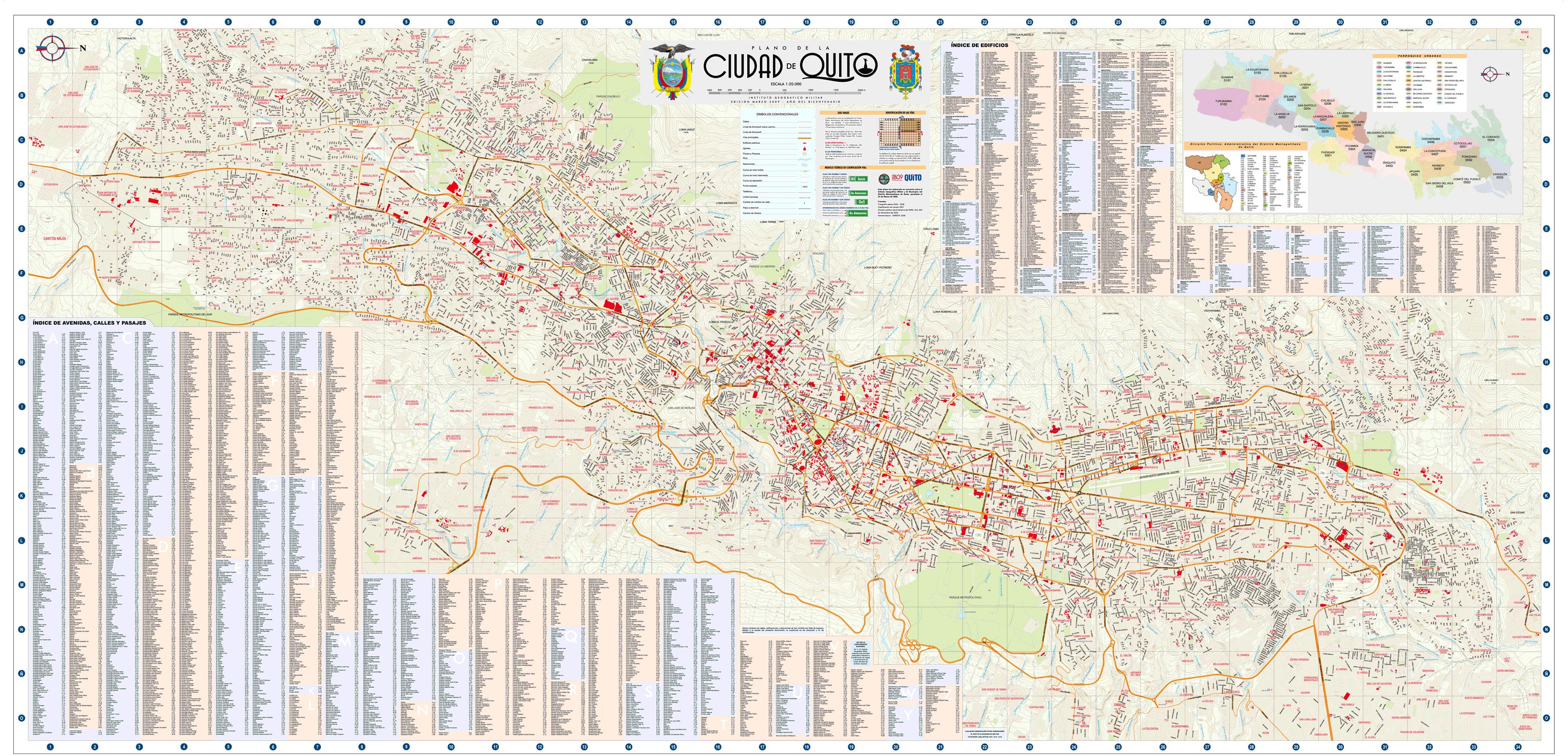 Plano de Quito 2009