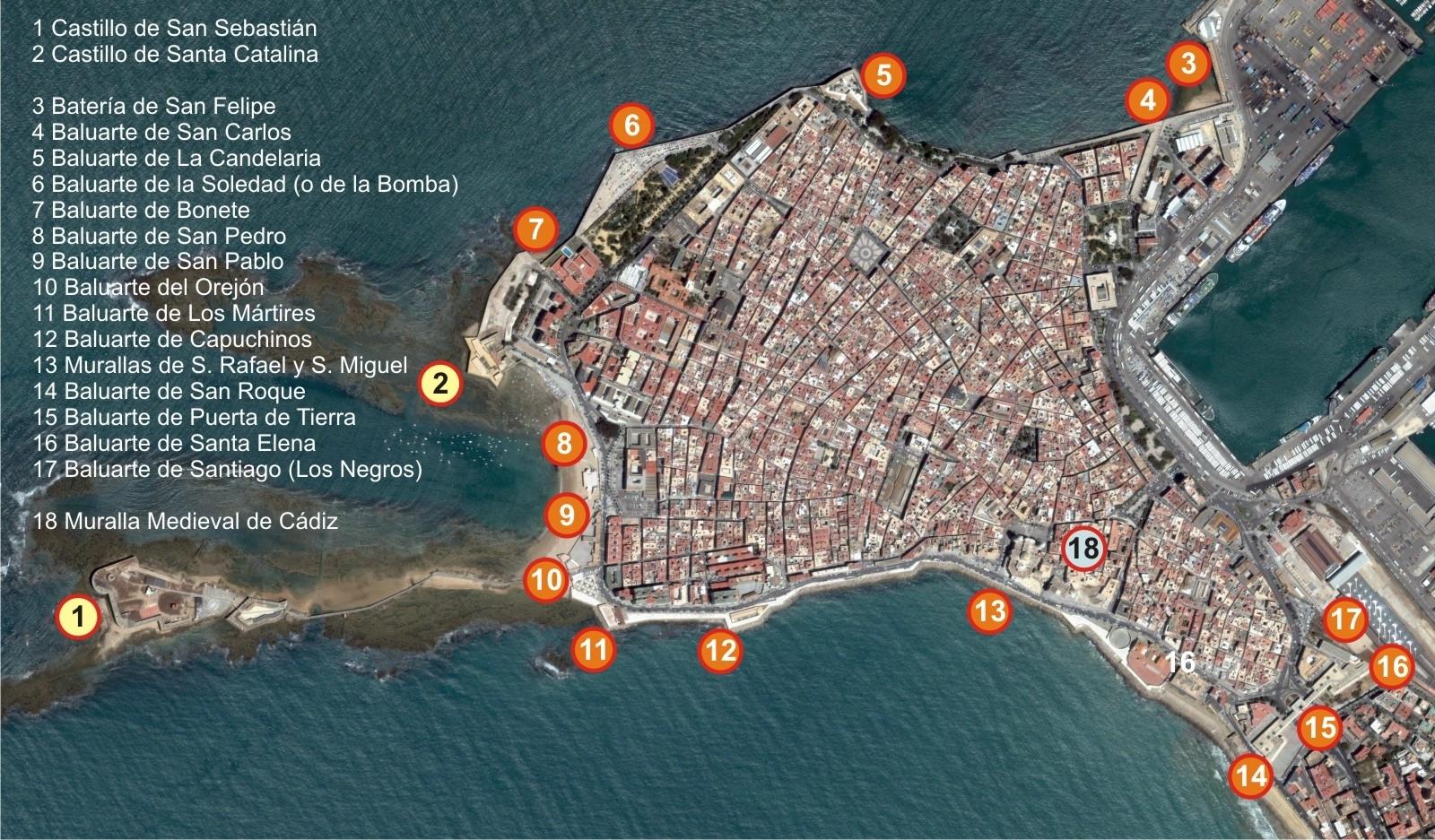 Cadiz ciudad fortificada