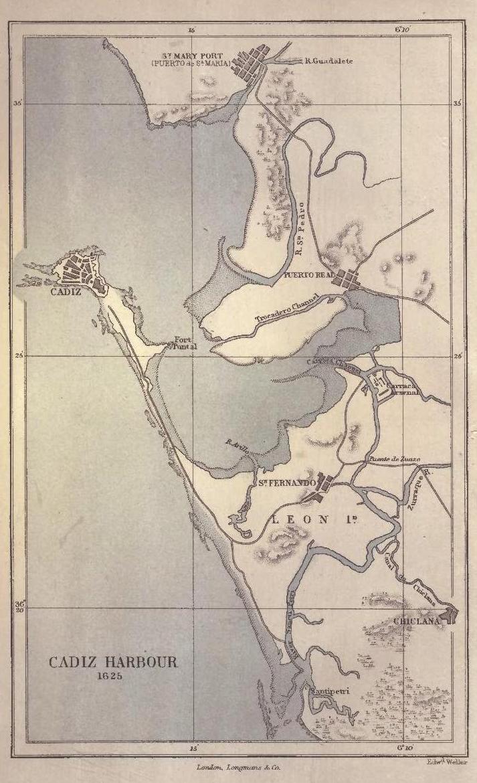Bahía de Cádiz en 1625