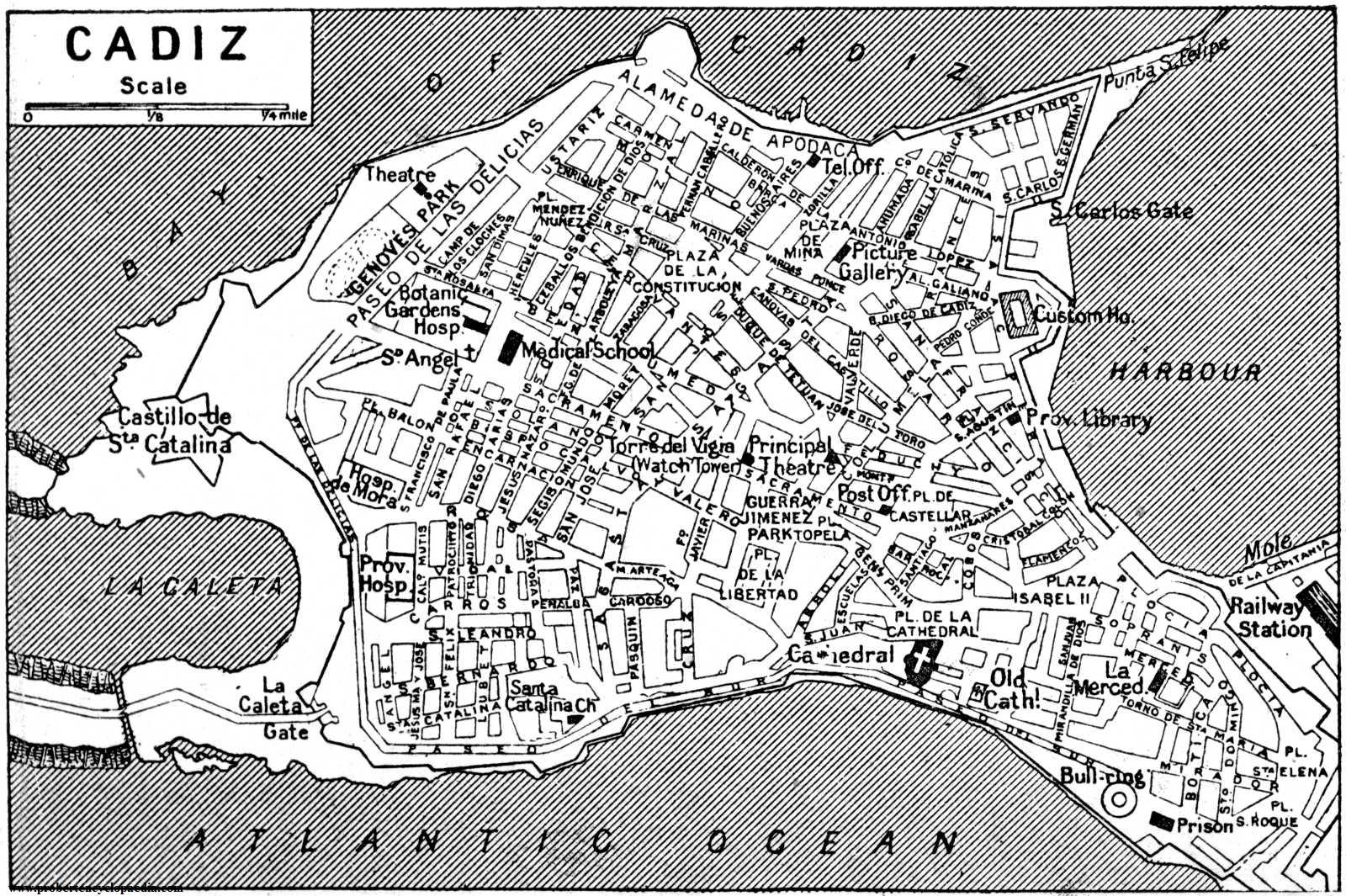 Map of Cádiz 1922