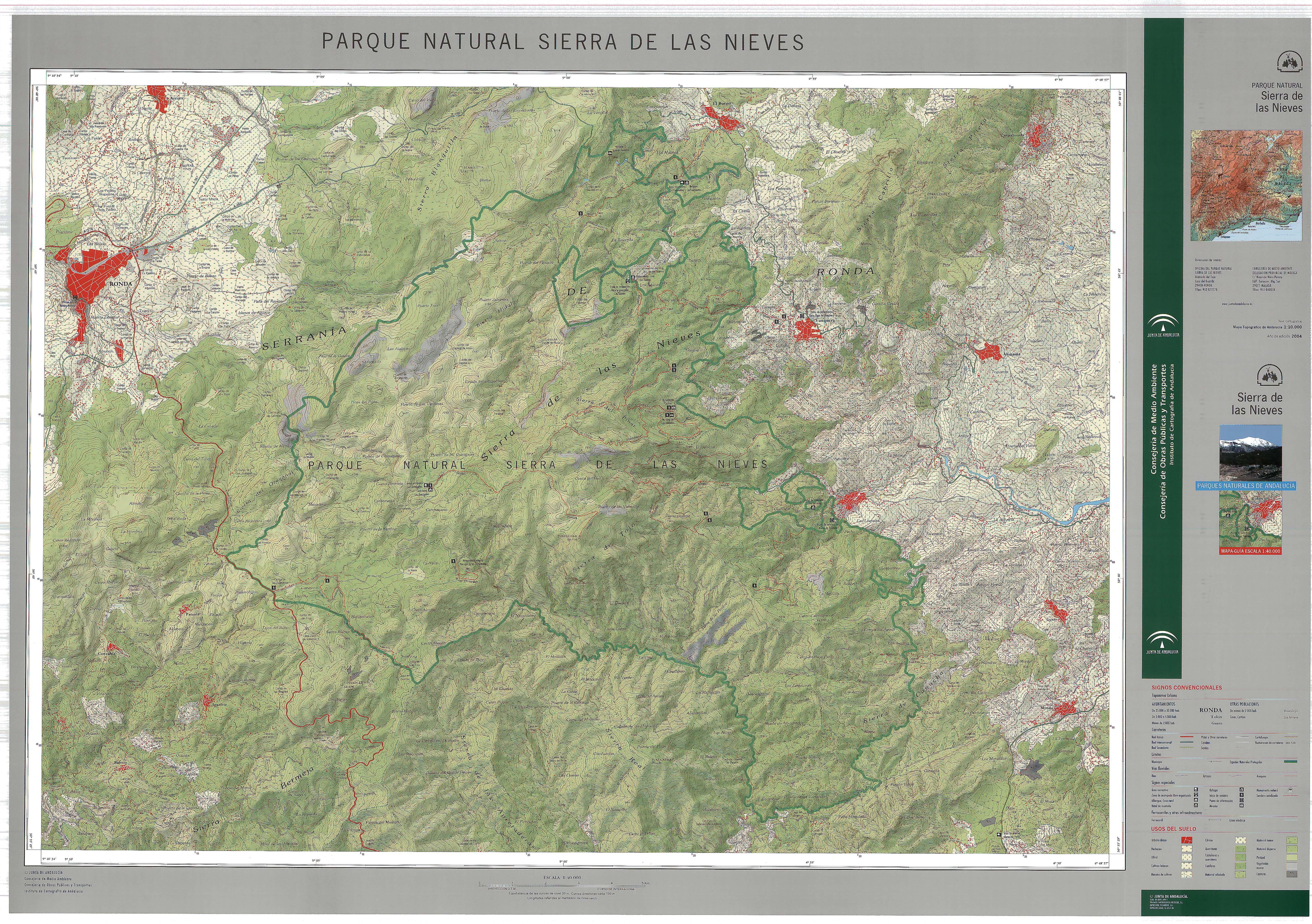 Parque Natural de la Sierra de las Nieves 2004