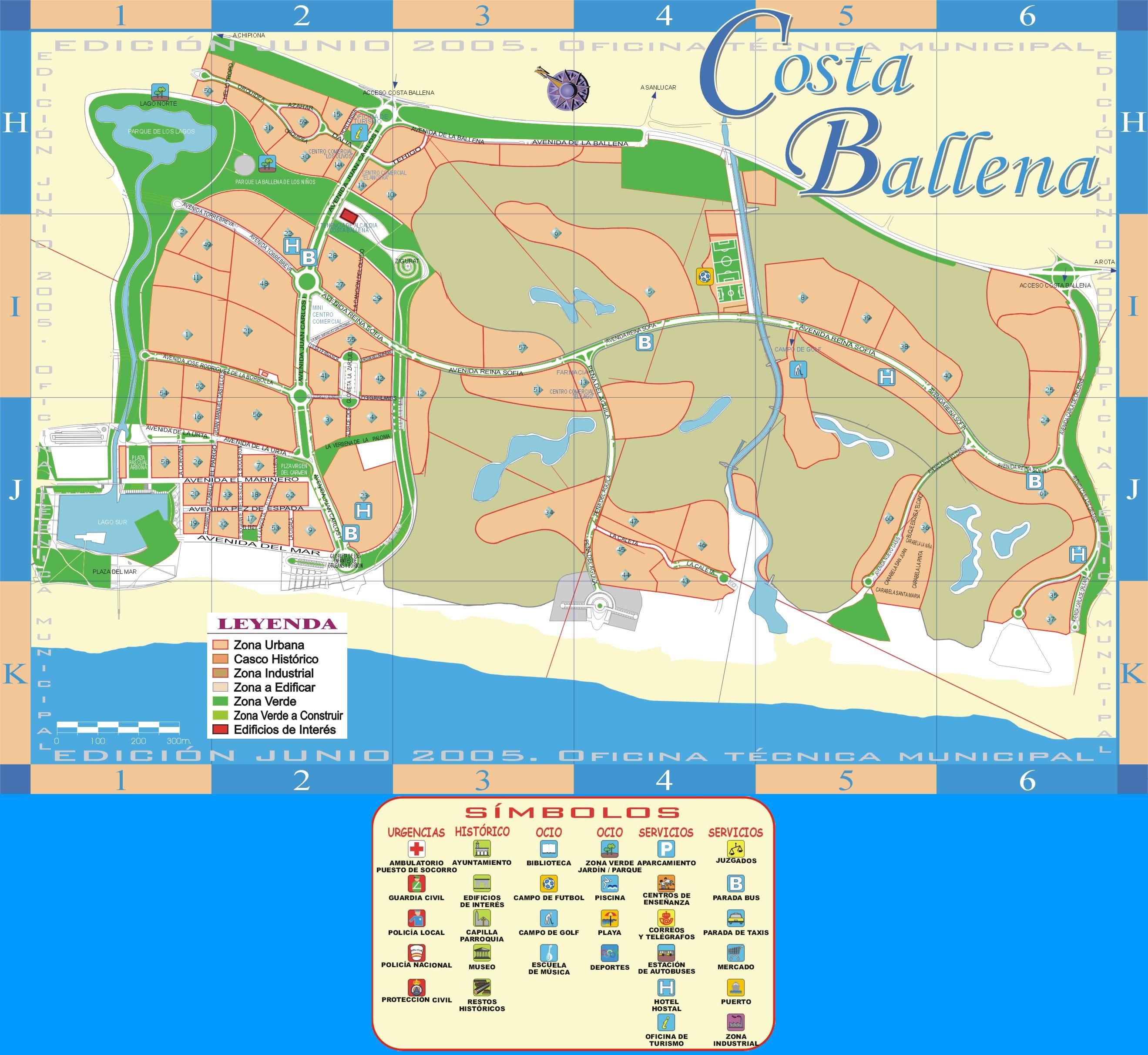 Mapa de Costa Ballena 2005