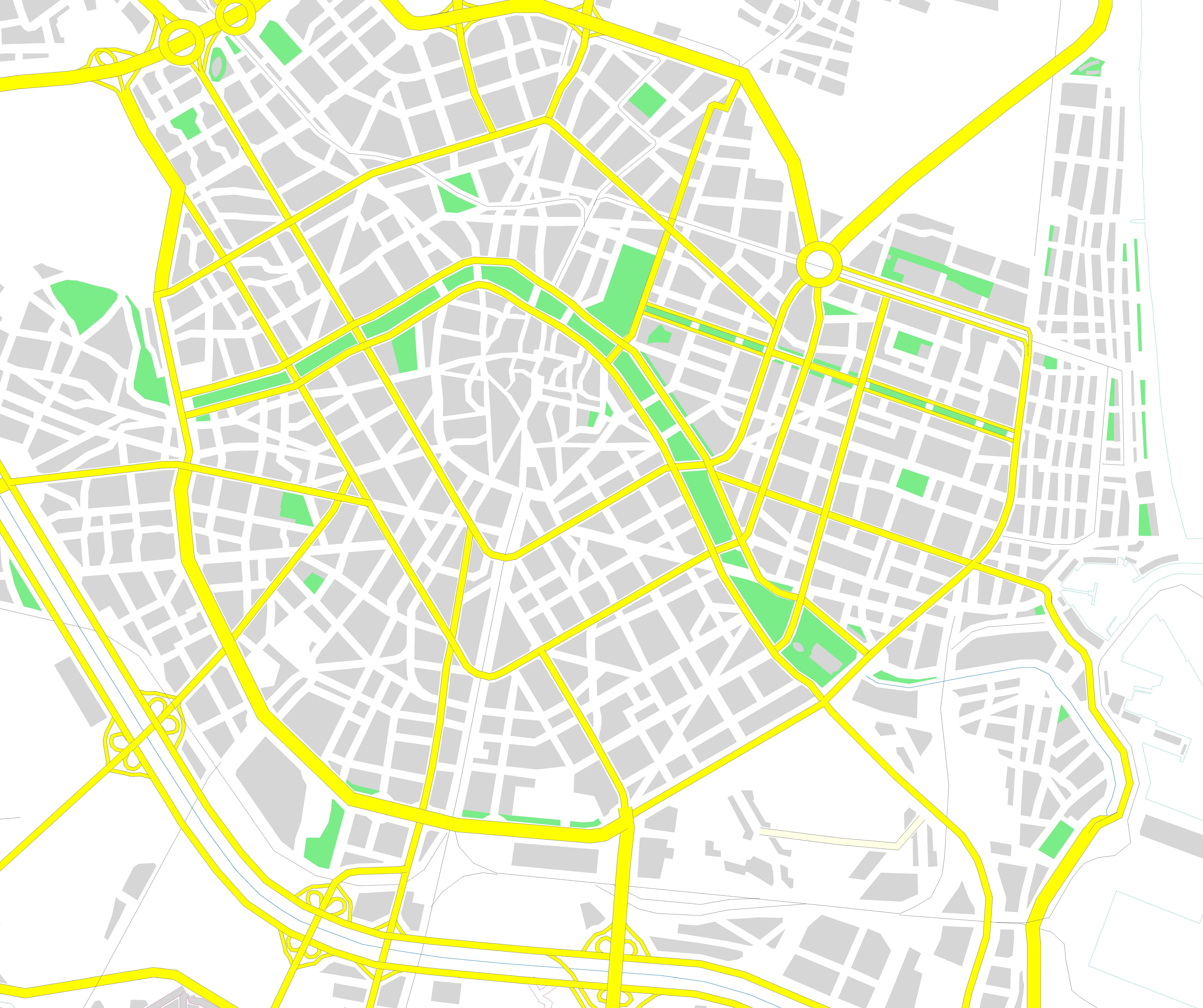 City map of Valencia 2008