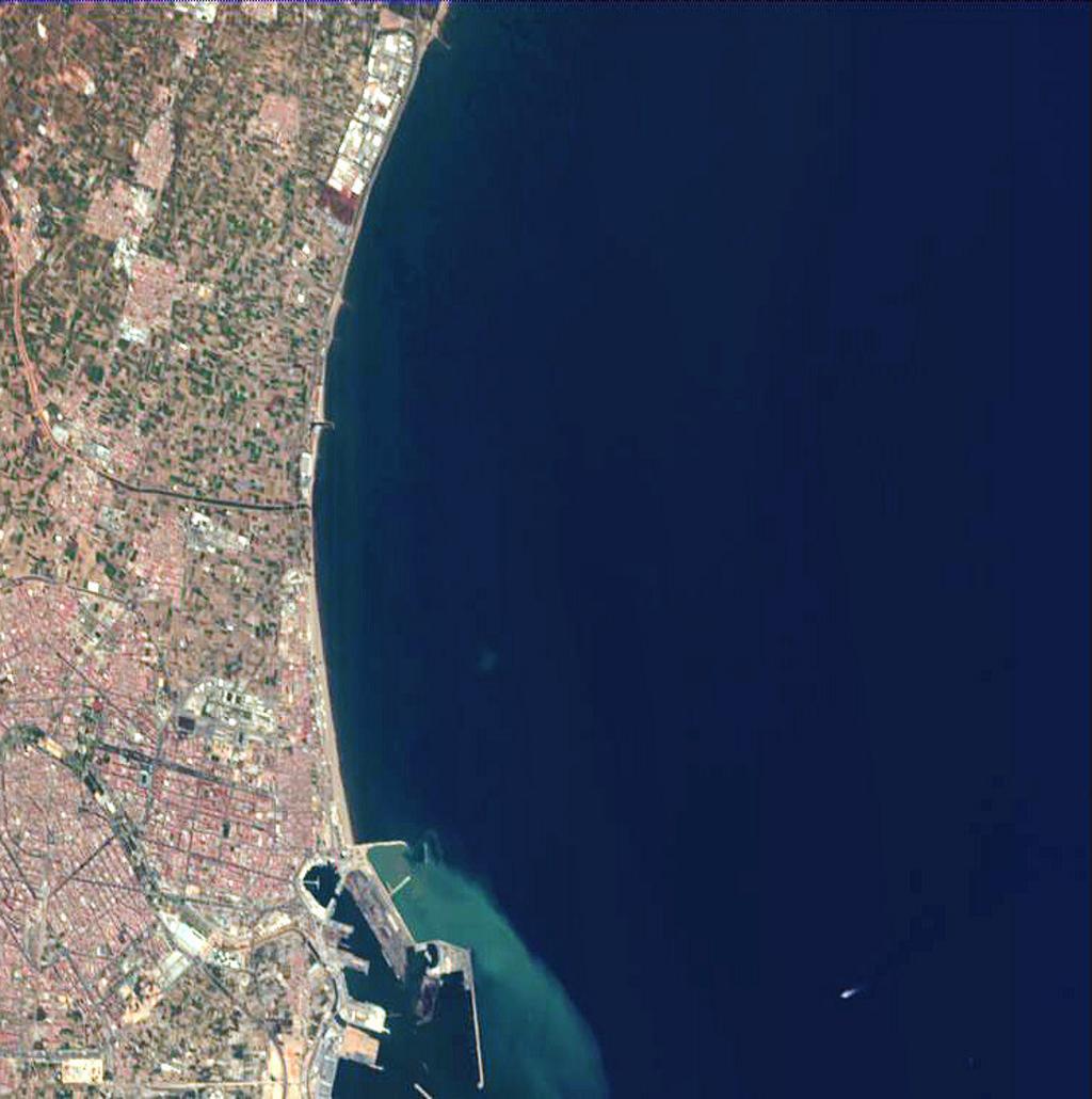 Satellite image of Valencia 2005