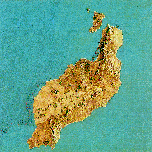 Satellite image of Lanzarote Island 1991