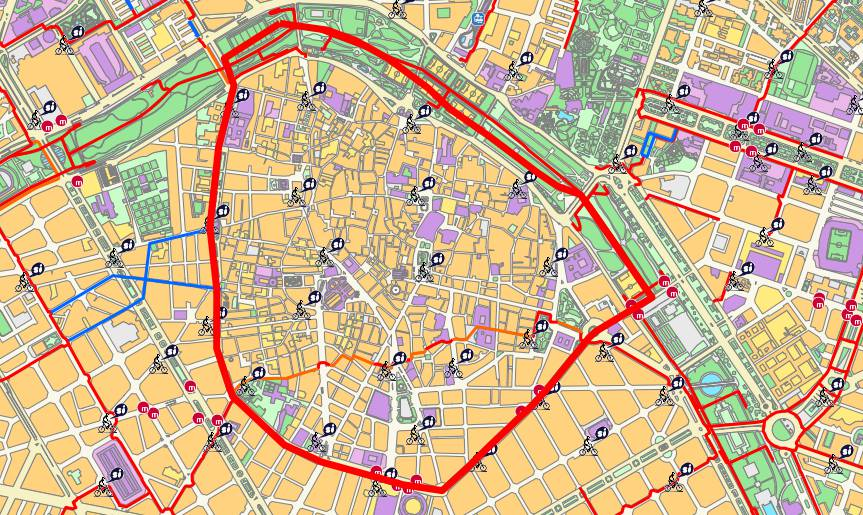 District of Ciutat Vella map
