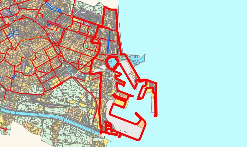 Mapa del distrito de Poblats Marítims