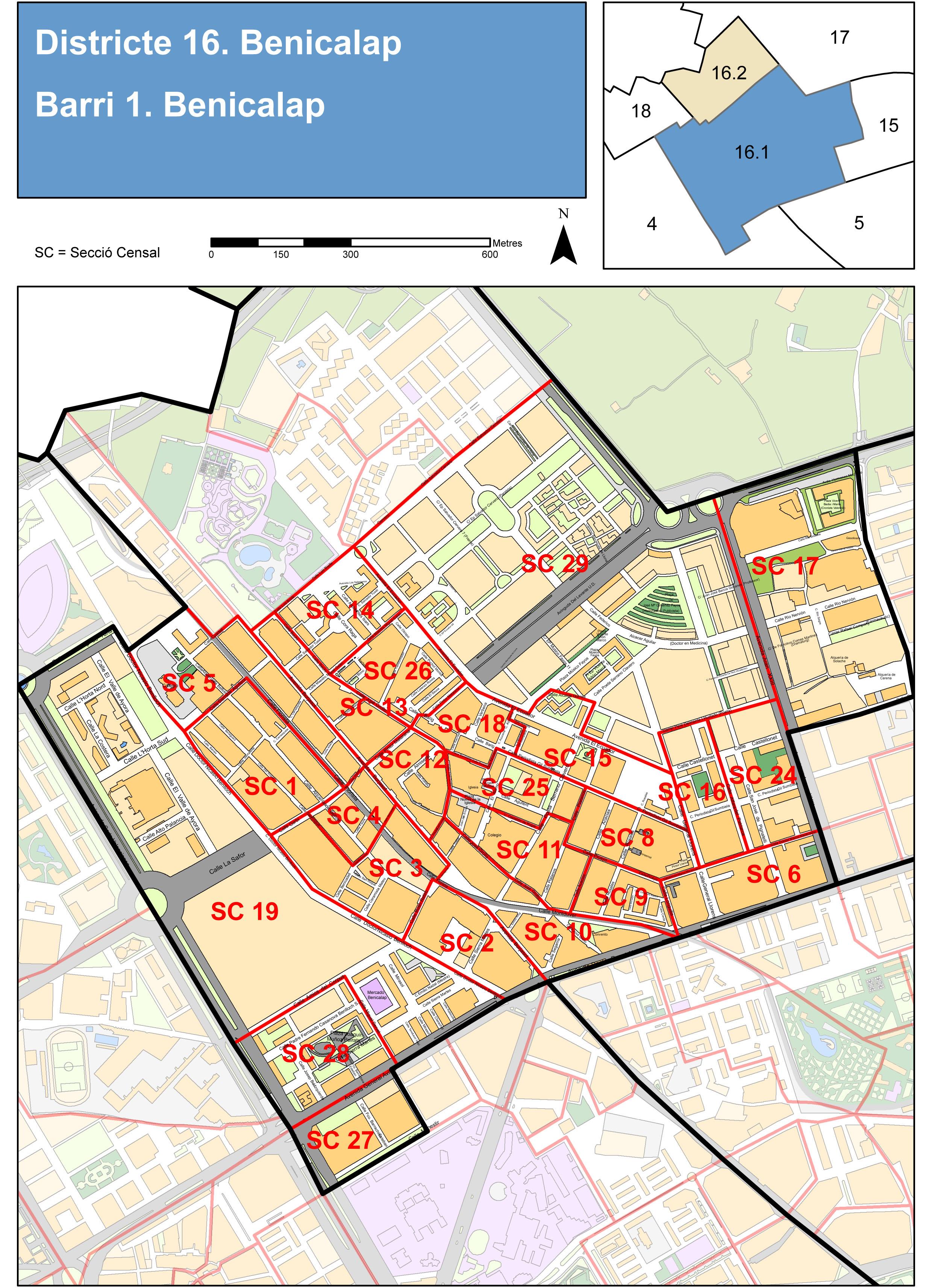 Neighborhood of Benicalap, Valencia