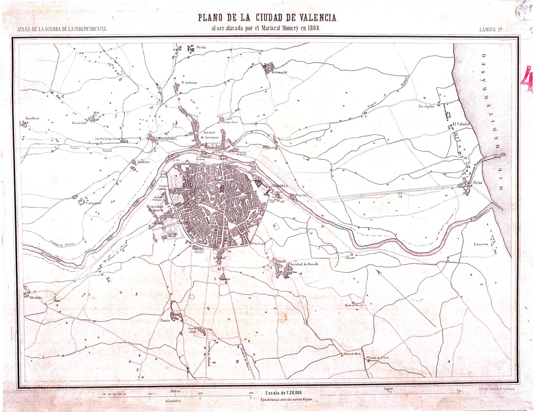 Ciudad de Valencia en 1808