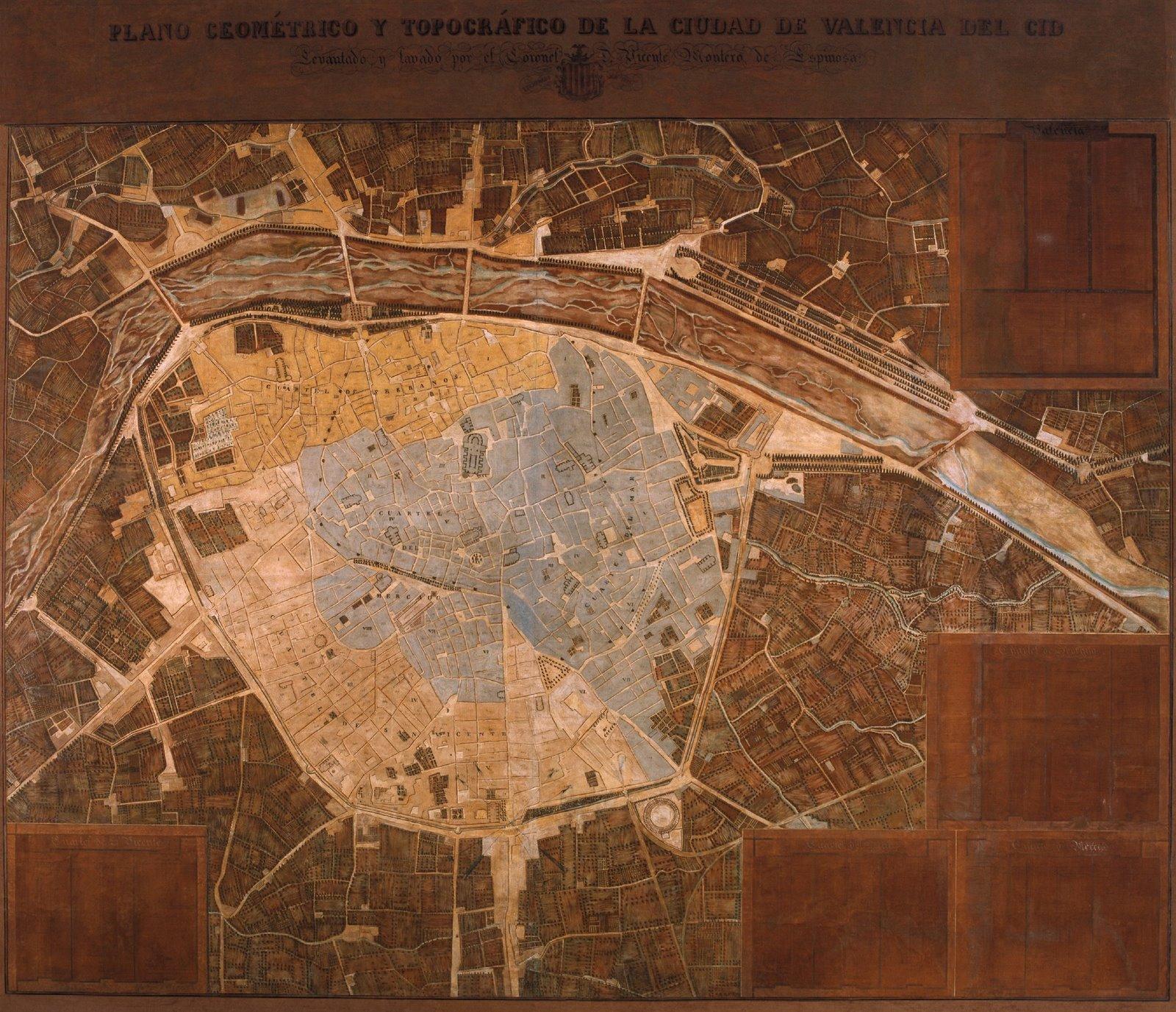 Plano geométrico y topográfico de Valencia 1853