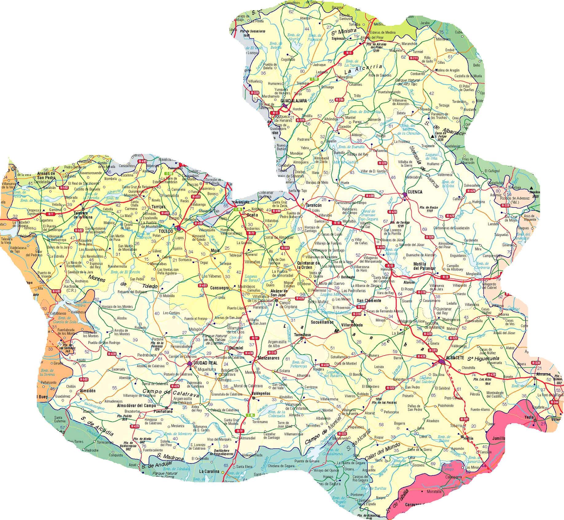 Castile and León map