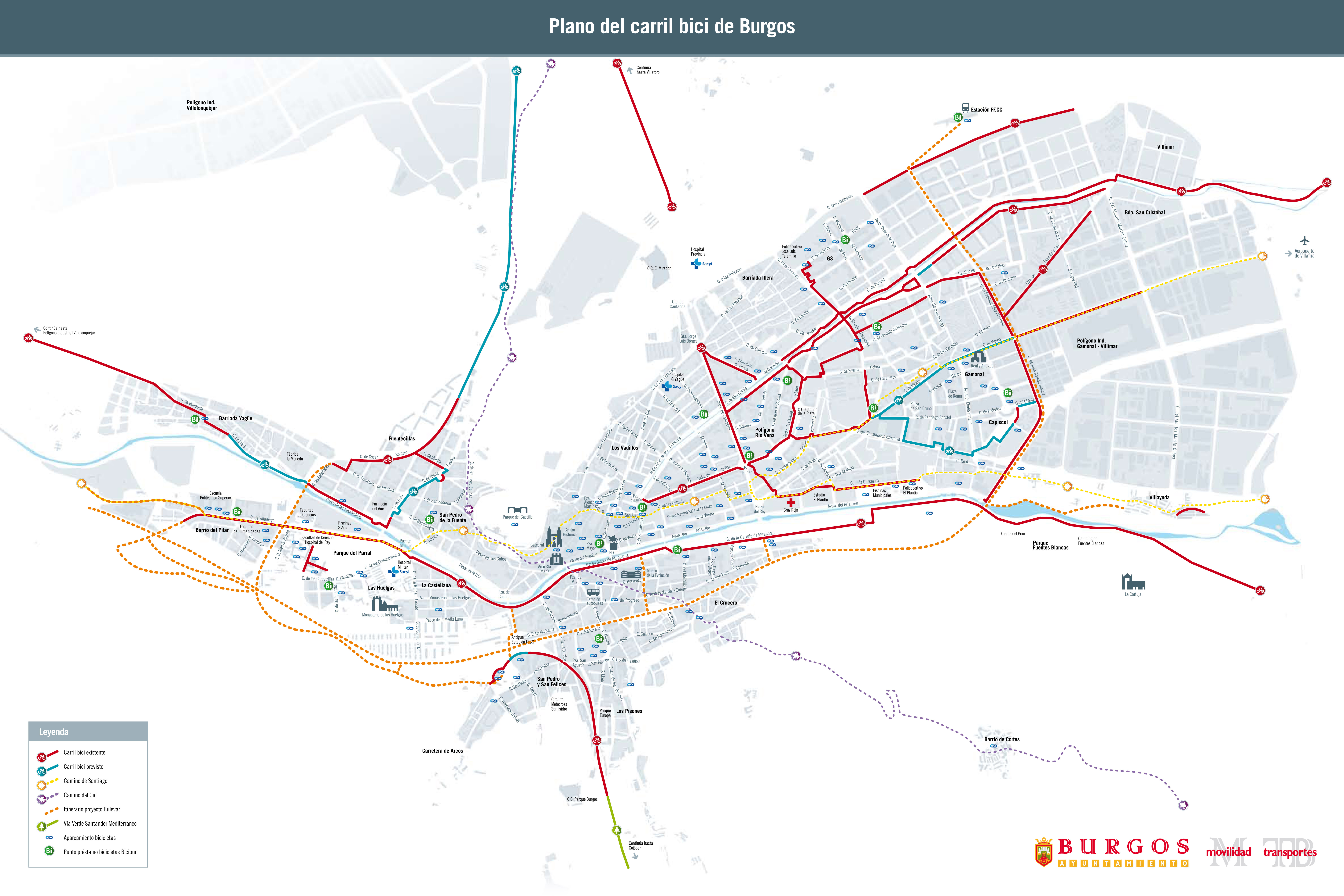Bike routes and paths in Burgos 2010