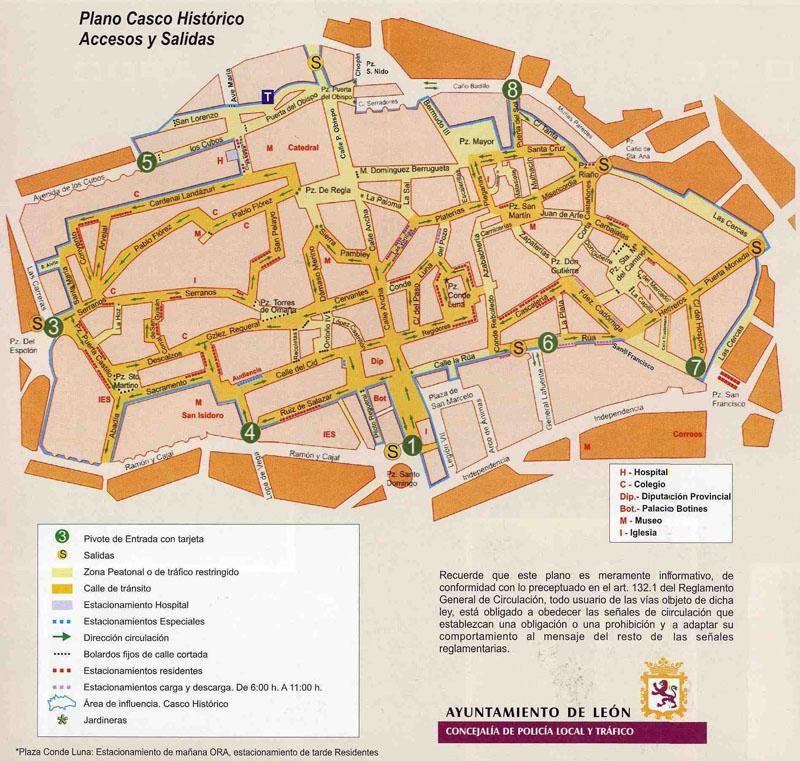 Plano del Casco Histórico de León